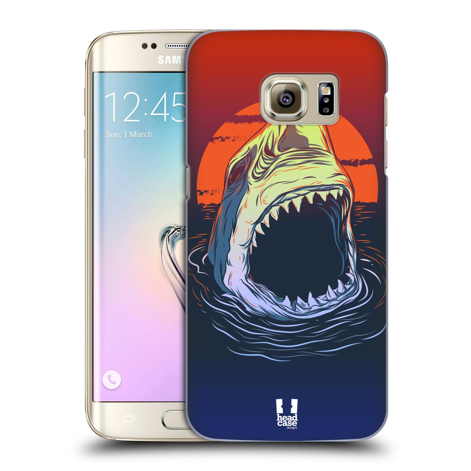HEAD CASE plastový obal na mobil SAMSUNG GALAXY S7 EDGE vzor mořská monstra žralok