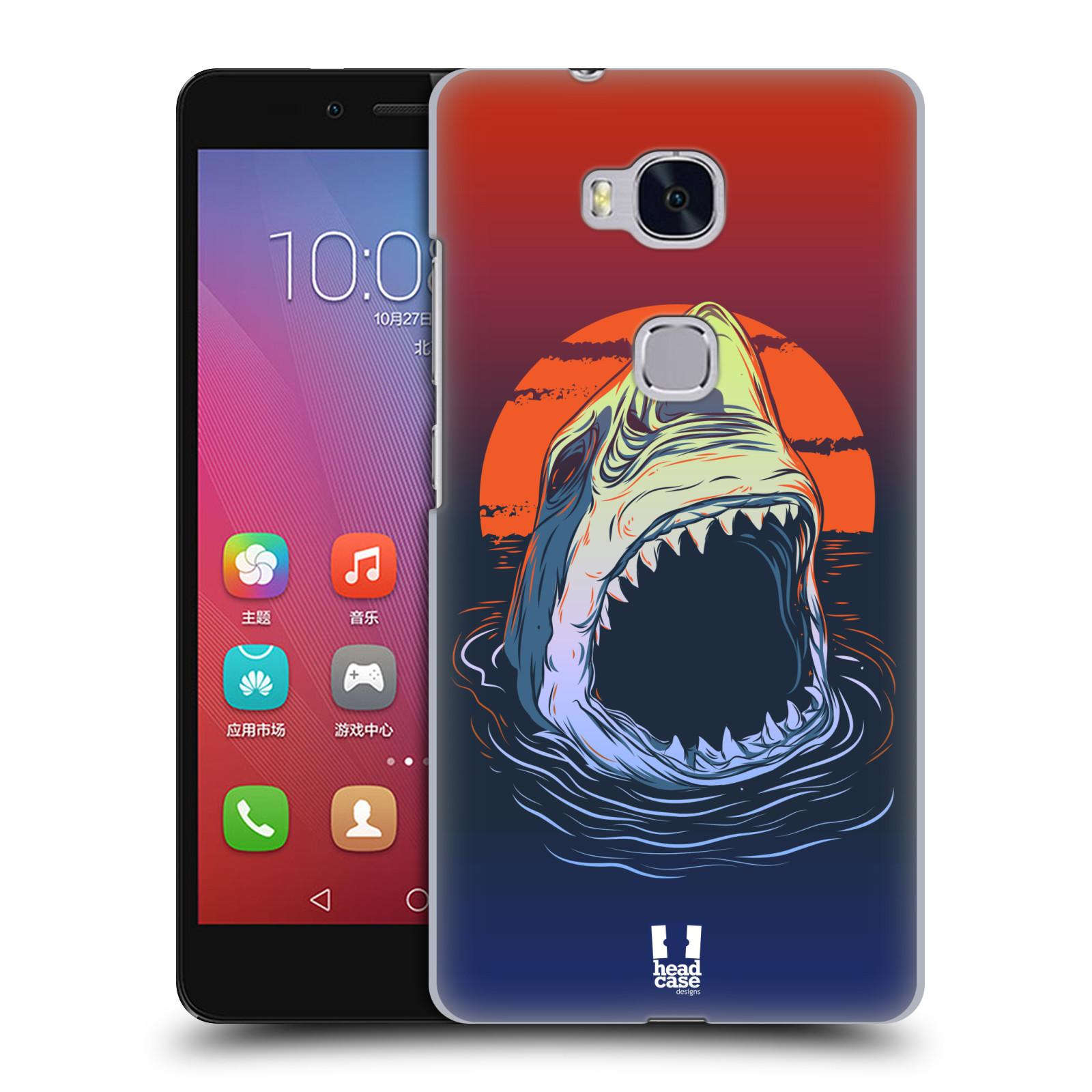 HEAD CASE pevný plastový obal na mobil HUAWEI HONOR 5X vzor mořská monstra žralok