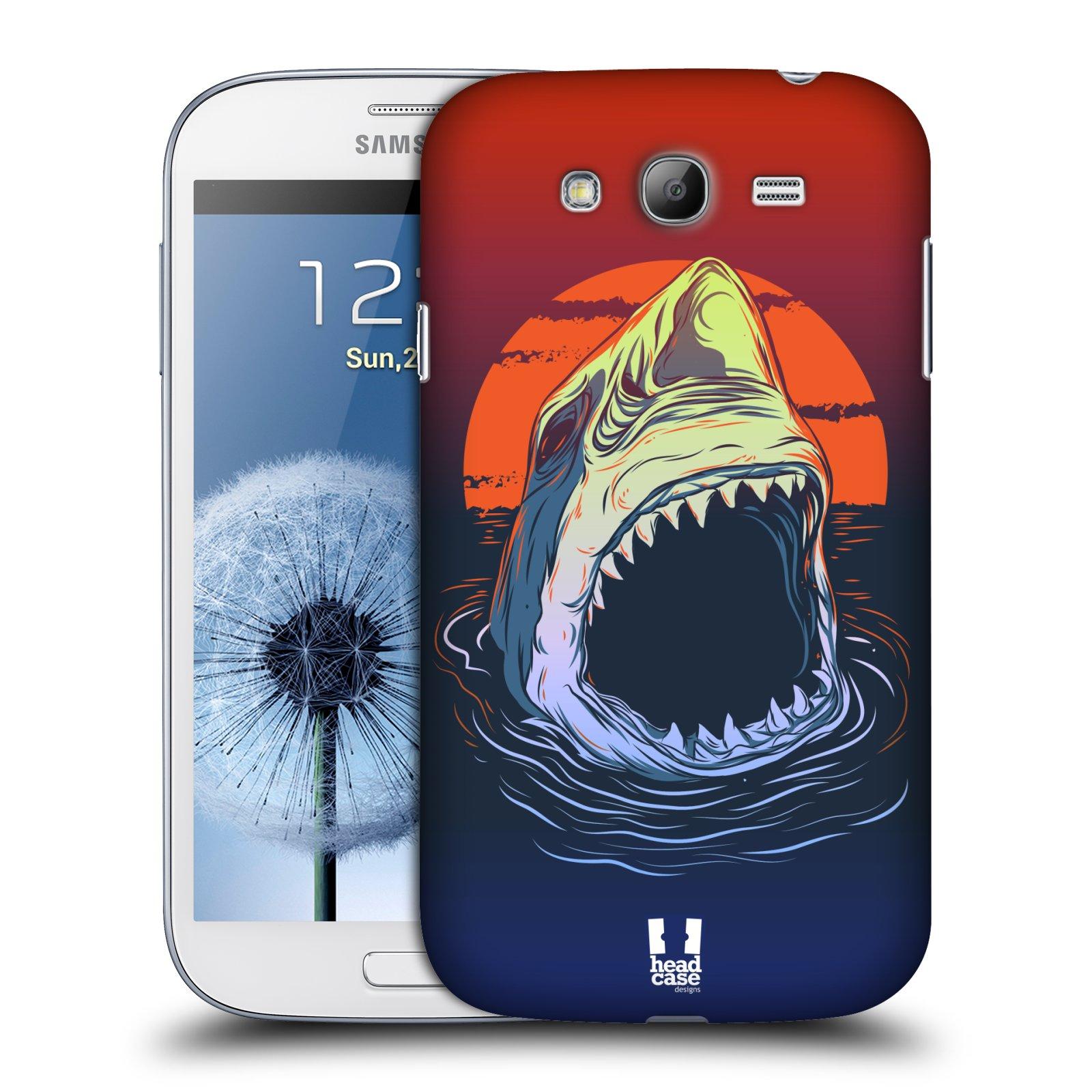 HEAD CASE plastový obal na mobil SAMSUNG GALAXY Grand i9080 vzor mořská monstra žralok