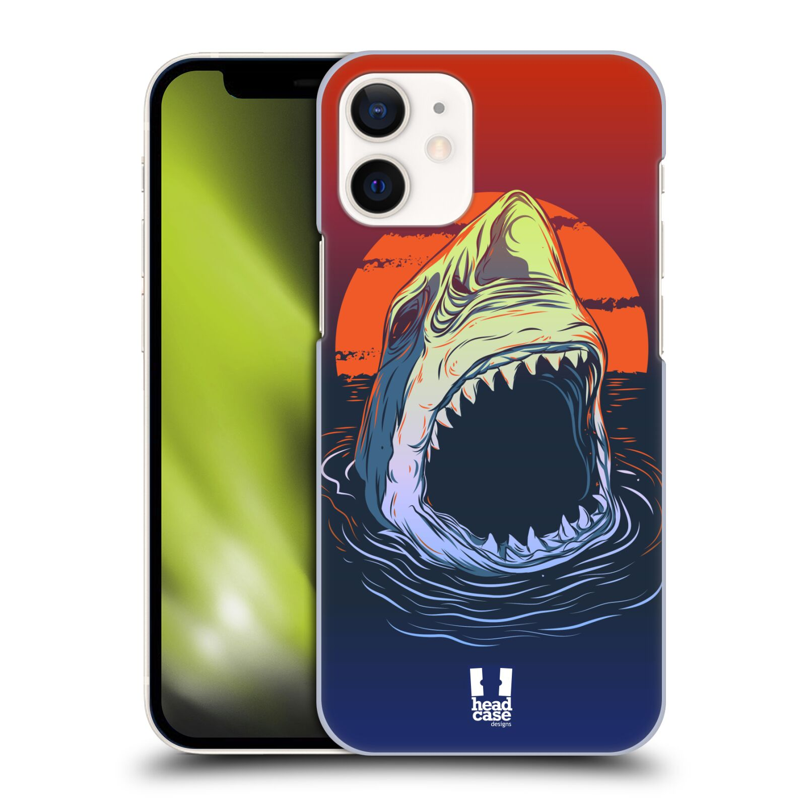 Plastový obal na mobil Apple Iphone 12 MINI vzor mořská monstra žralok