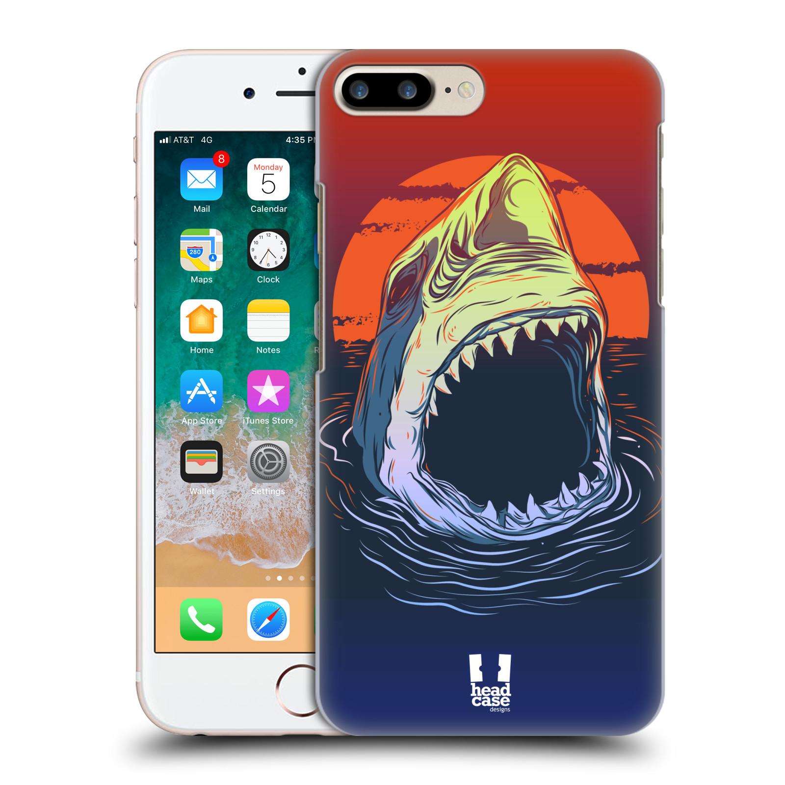 HEAD CASE plastový obal na mobil Apple Iphone 7 PLUS vzor mořská monstra žralok