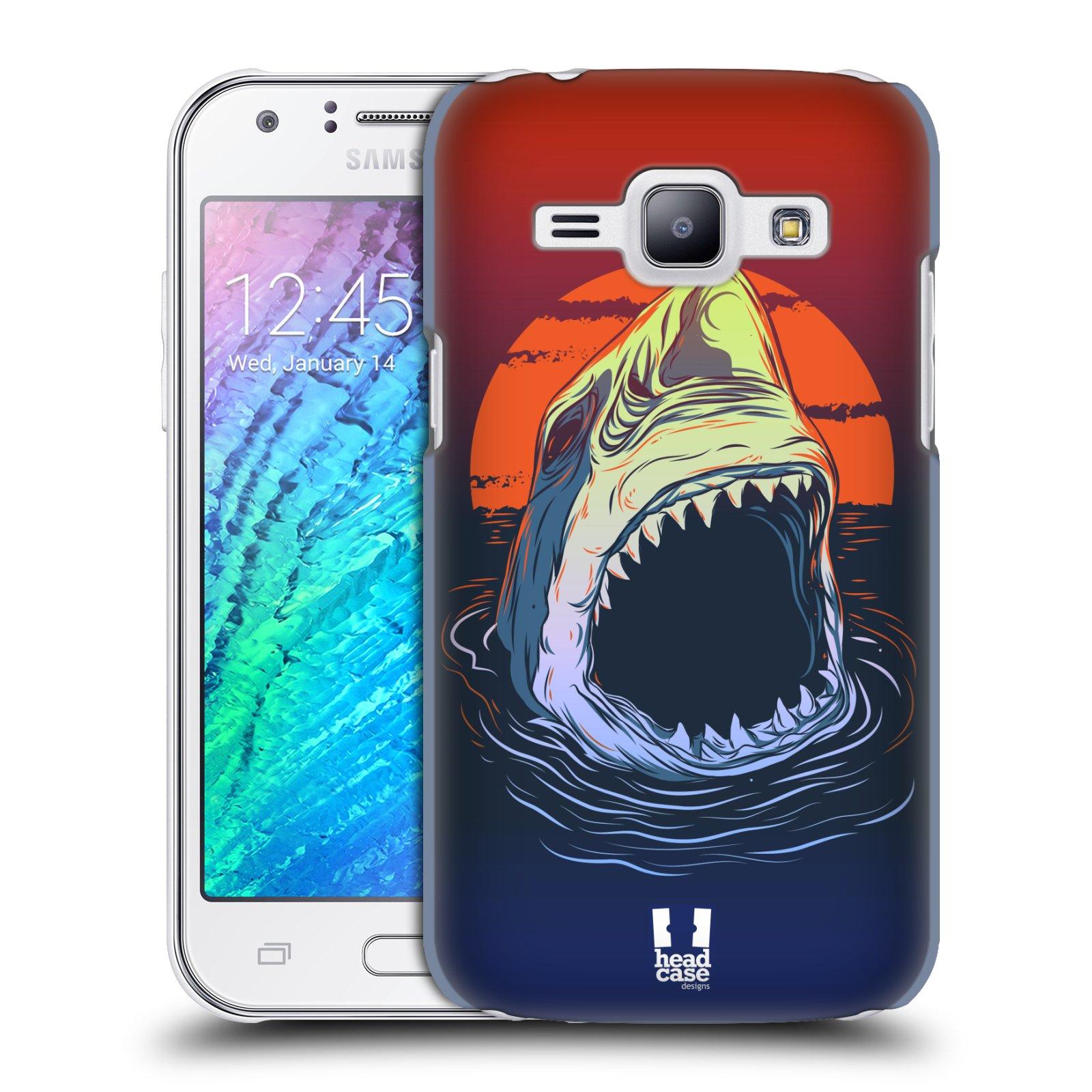 HEAD CASE plastový obal na mobil SAMSUNG Galaxy J1, J100 vzor mořská monstra žralok