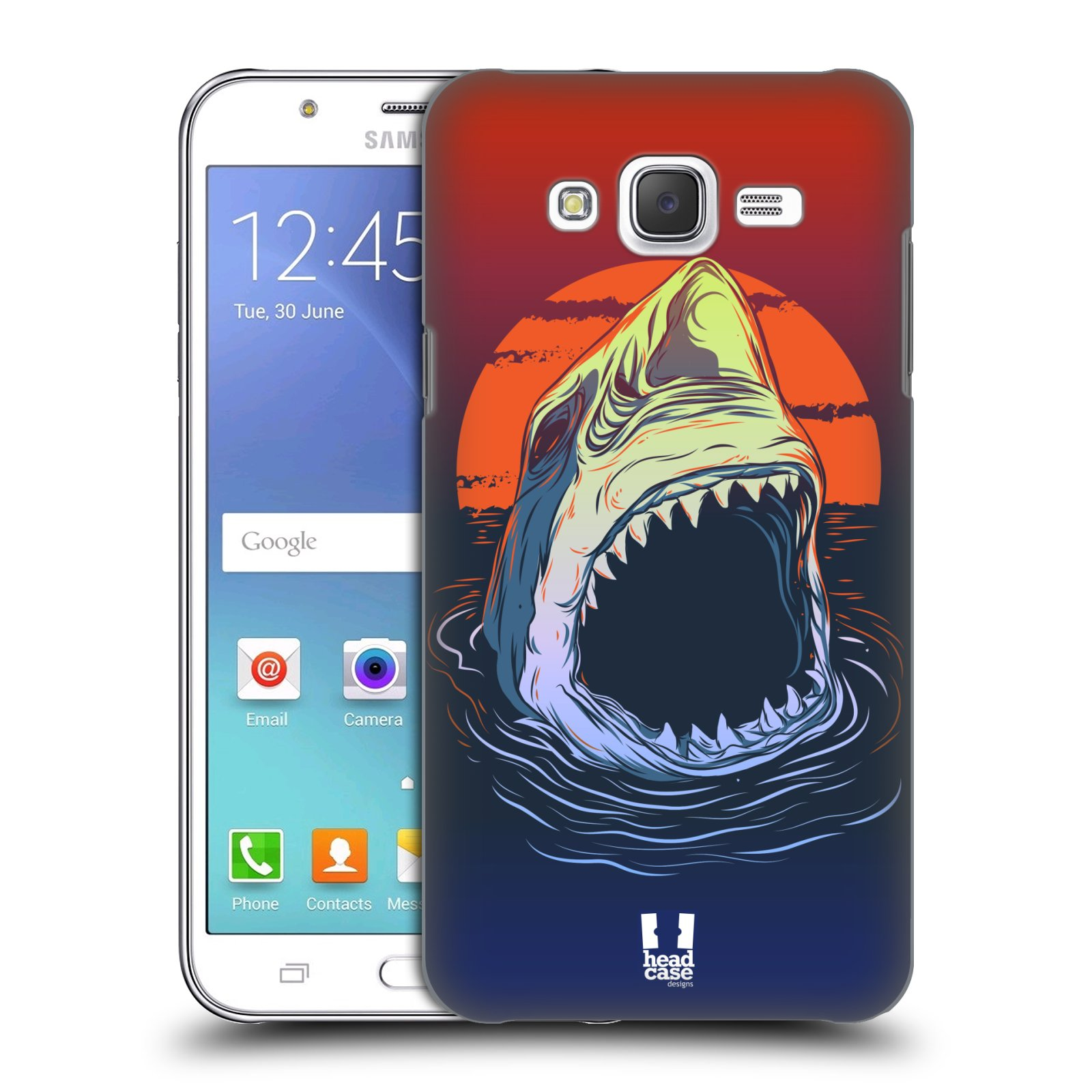 HEAD CASE plastový obal na mobil SAMSUNG Galaxy J5, J500 vzor mořská monstra žralok