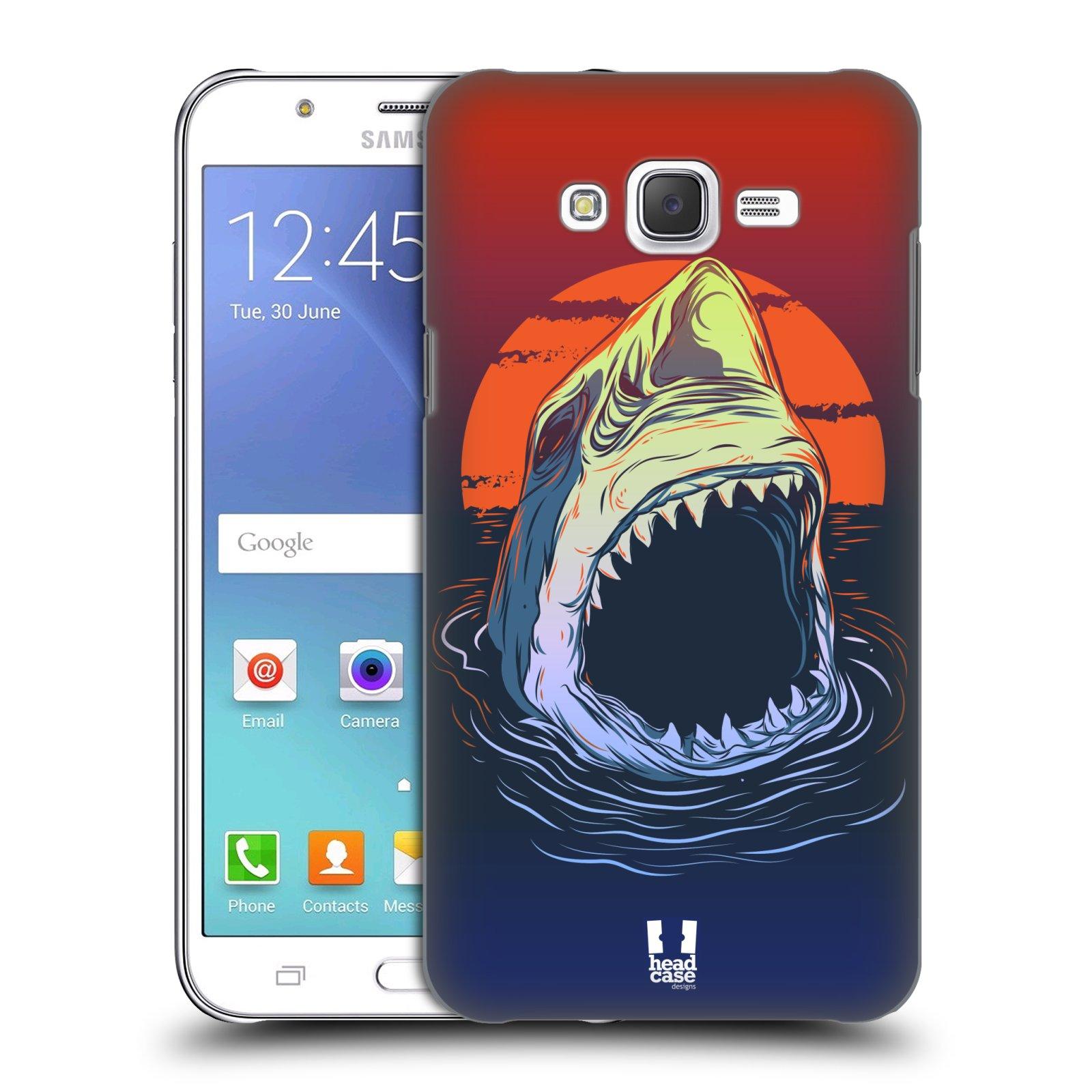 HEAD CASE plastový obal na mobil SAMSUNG Galaxy J7, J700 vzor mořská monstra žralok