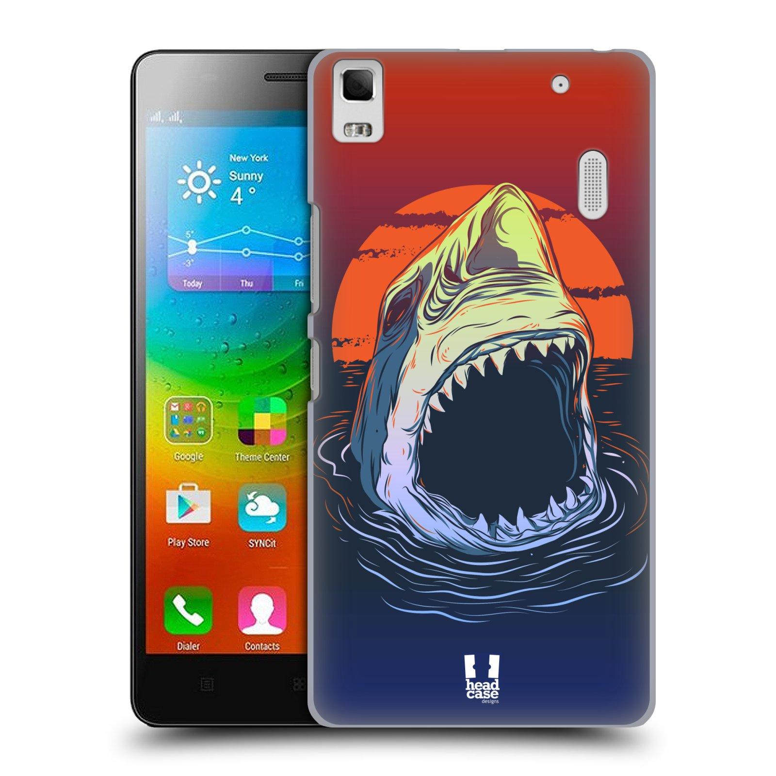 HEAD CASE pevný plastový obal na mobil LENOVO A7000 / A7000 DUAL / K3 NOTE vzor mořská monstra žralok