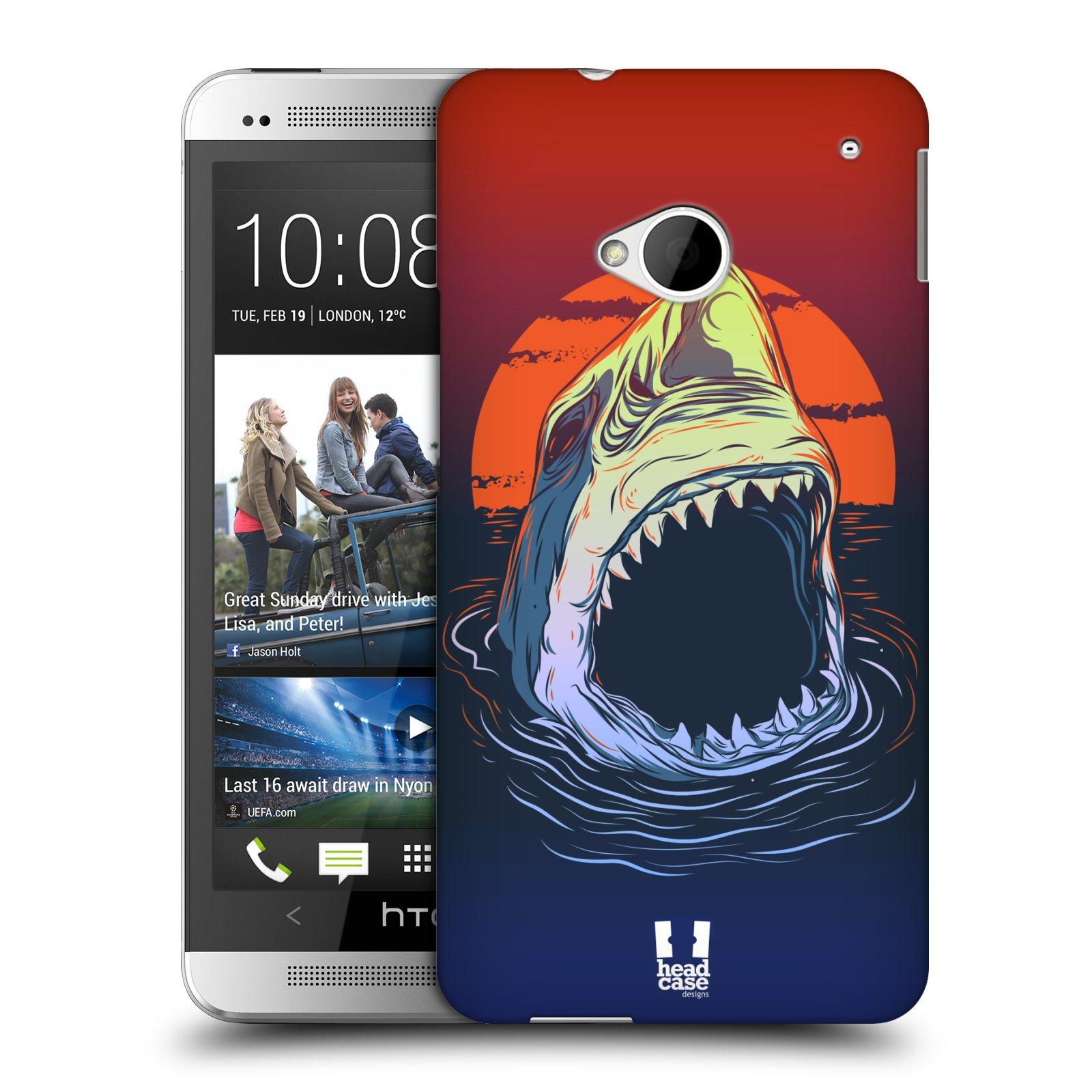 HEAD CASE plastový obal na mobil HTC One (M7) vzor mořská monstra žralok