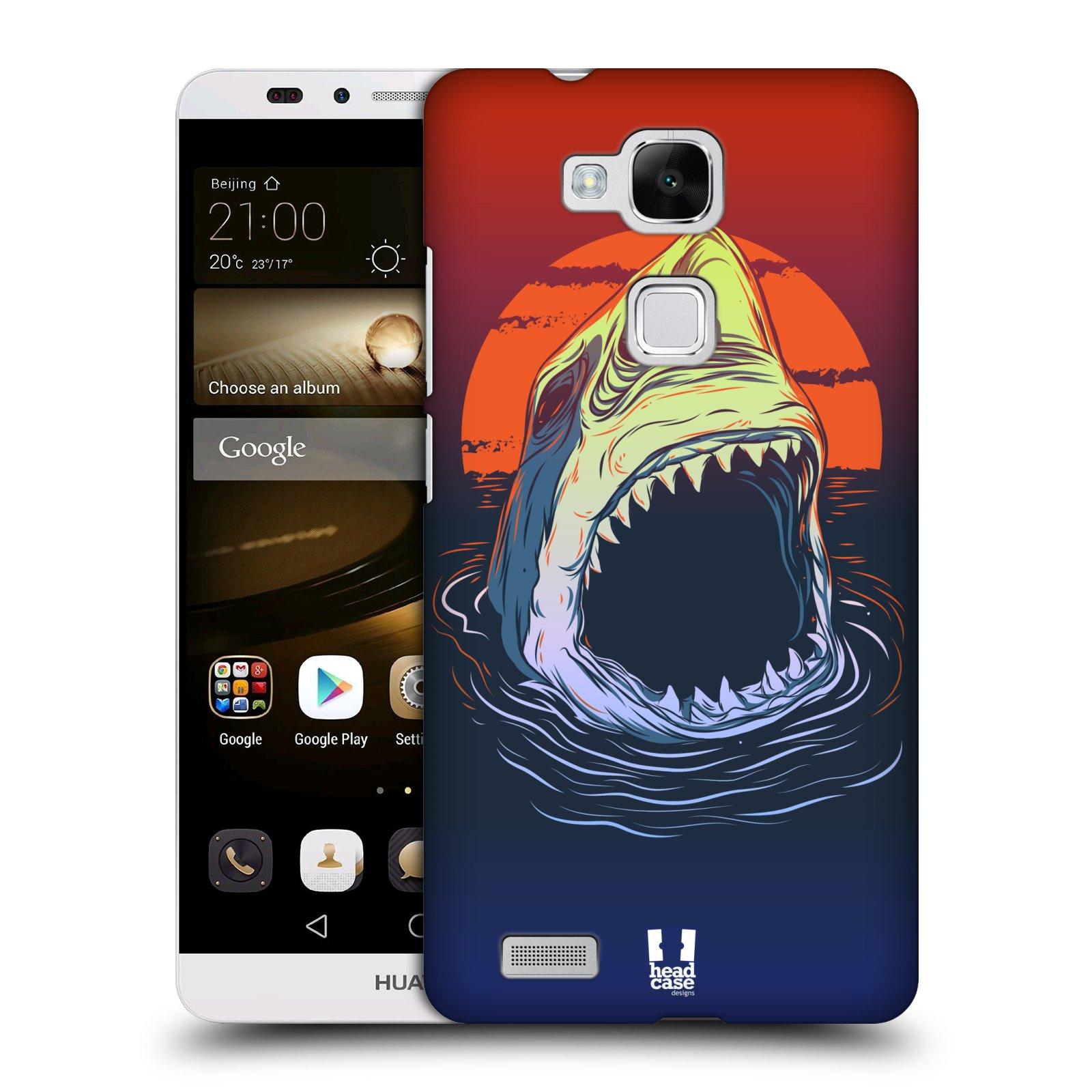 HEAD CASE plastový obal na mobil Huawei Mate 7 vzor mořská monstra žralok