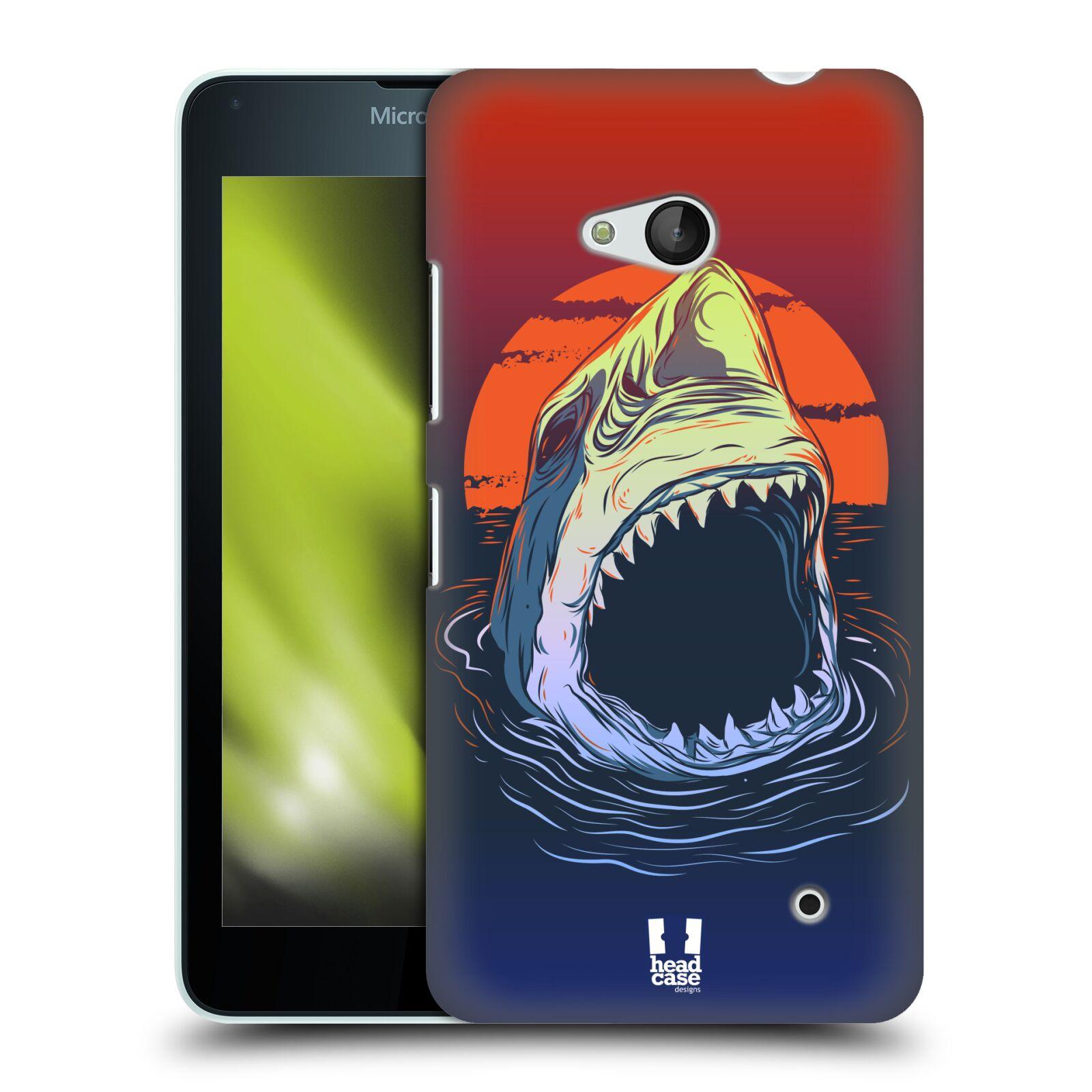 HEAD CASE plastový obal na mobil Nokia Lumia 640 vzor mořská monstra žralok