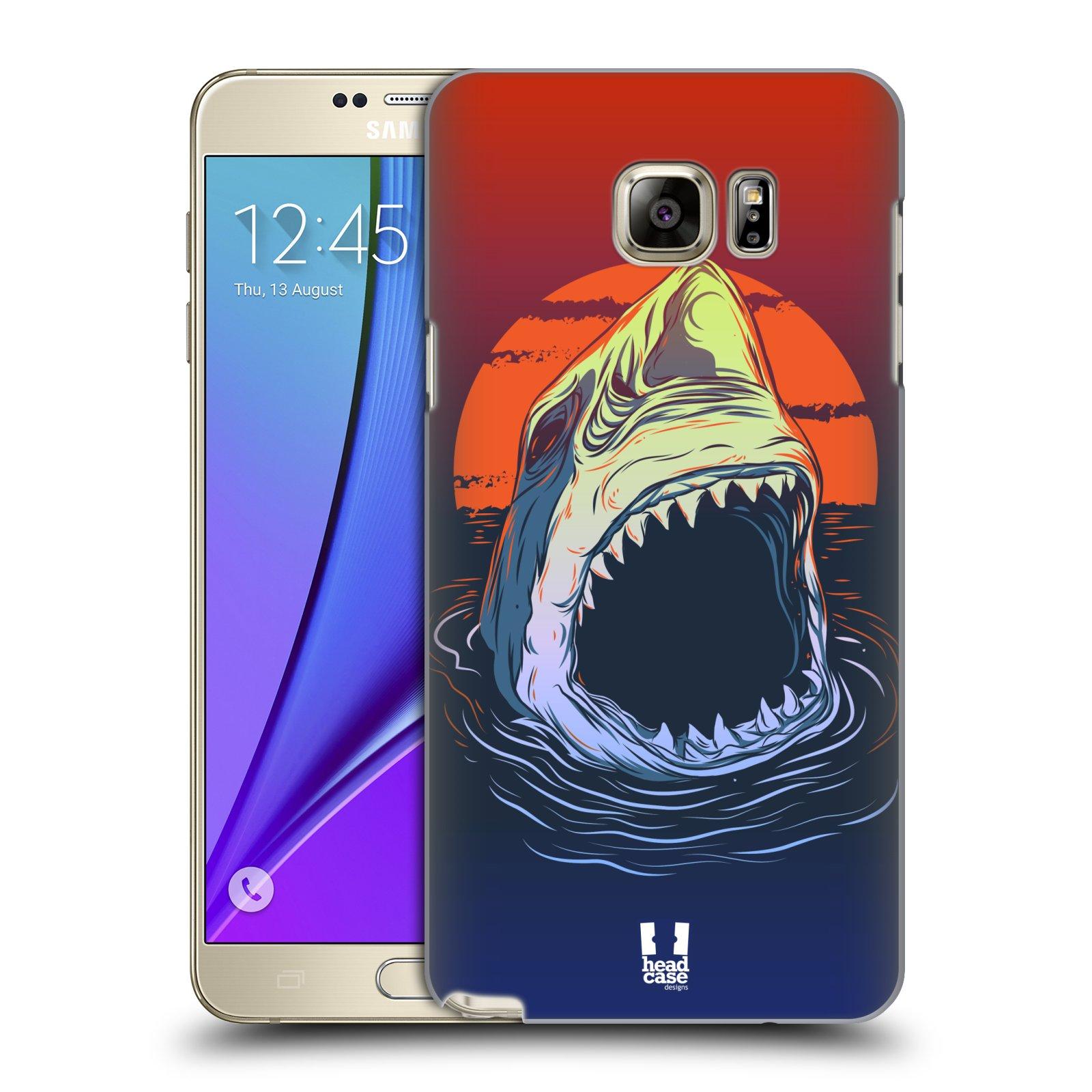 HEAD CASE plastový obal na mobil SAMSUNG Galaxy Note 5 (N920) vzor mořská monstra žralok