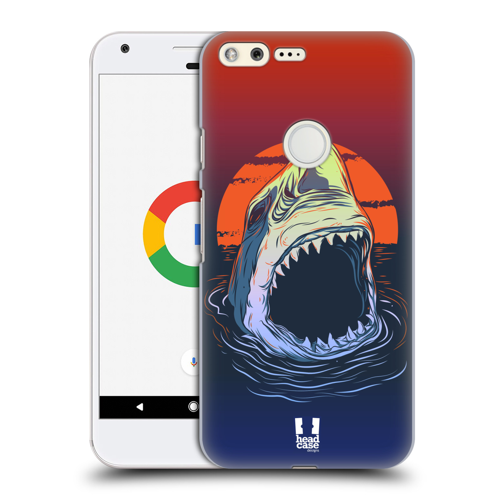 HEAD CASE plastový obal na mobil GOOGLE Pixel vzor mořská monstra žralok