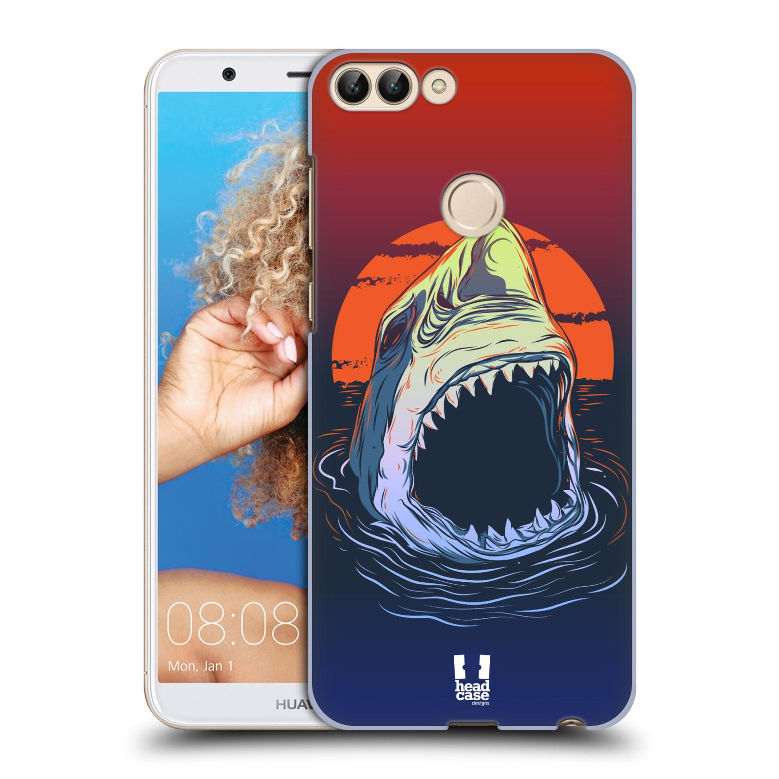 HEAD CASE plastový obal na mobil Huawei P Smart vzor mořská monstra žralok