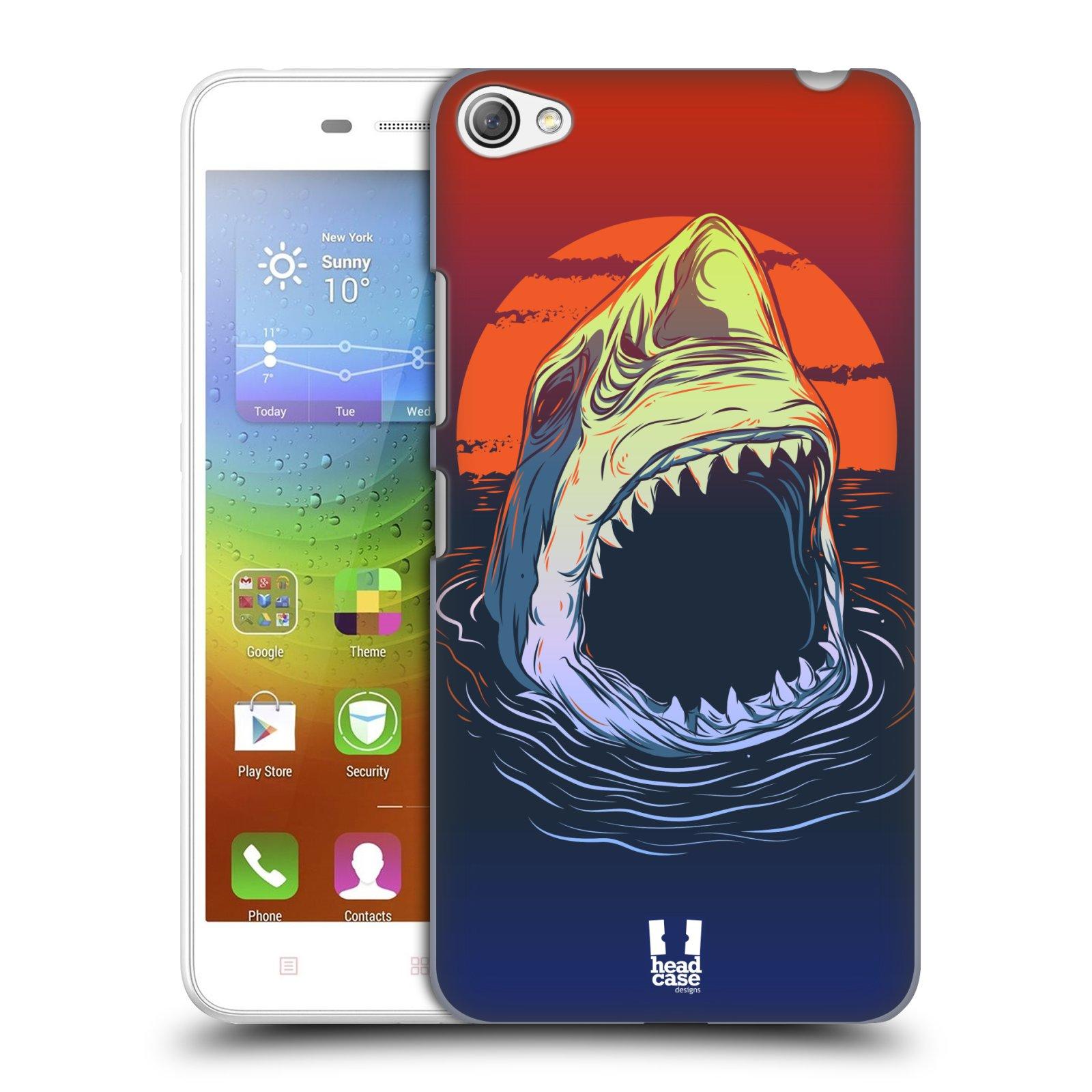 HEAD CASE pevný plastový obal na mobil LENOVO S60 / LENOVO S60 DUAL SIM vzor mořská monstra žralok