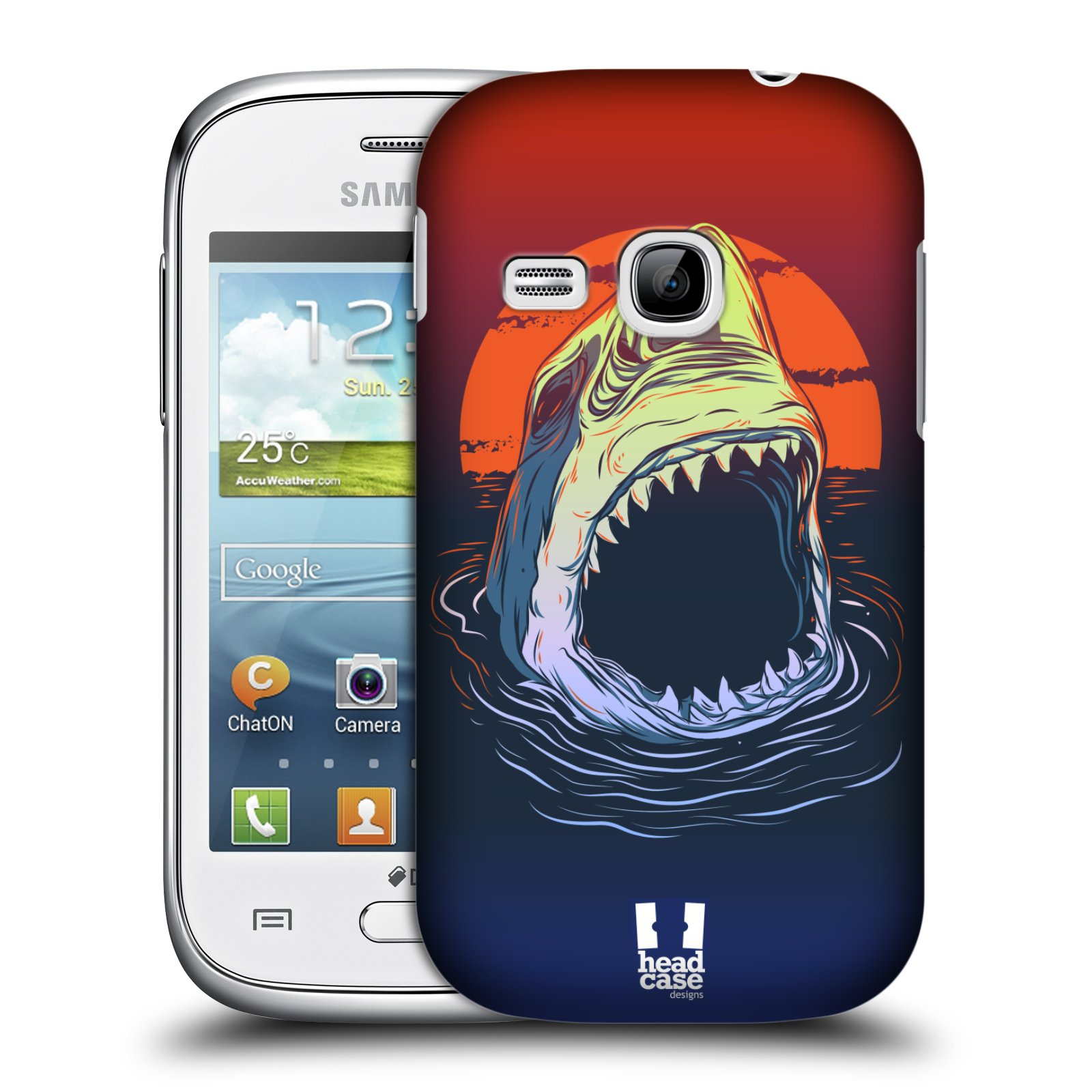 HEAD CASE plastový obal na mobil SAMSUNG Galaxy Young S6310 vzor mořská monstra žralok