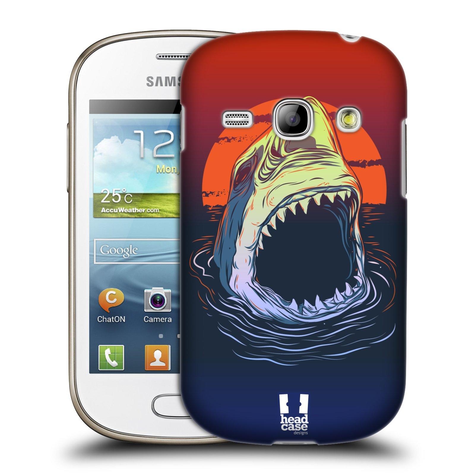 HEAD CASE plastový obal na mobil SAMSUNG GALAXY FAME (S6810) vzor mořská monstra žralok