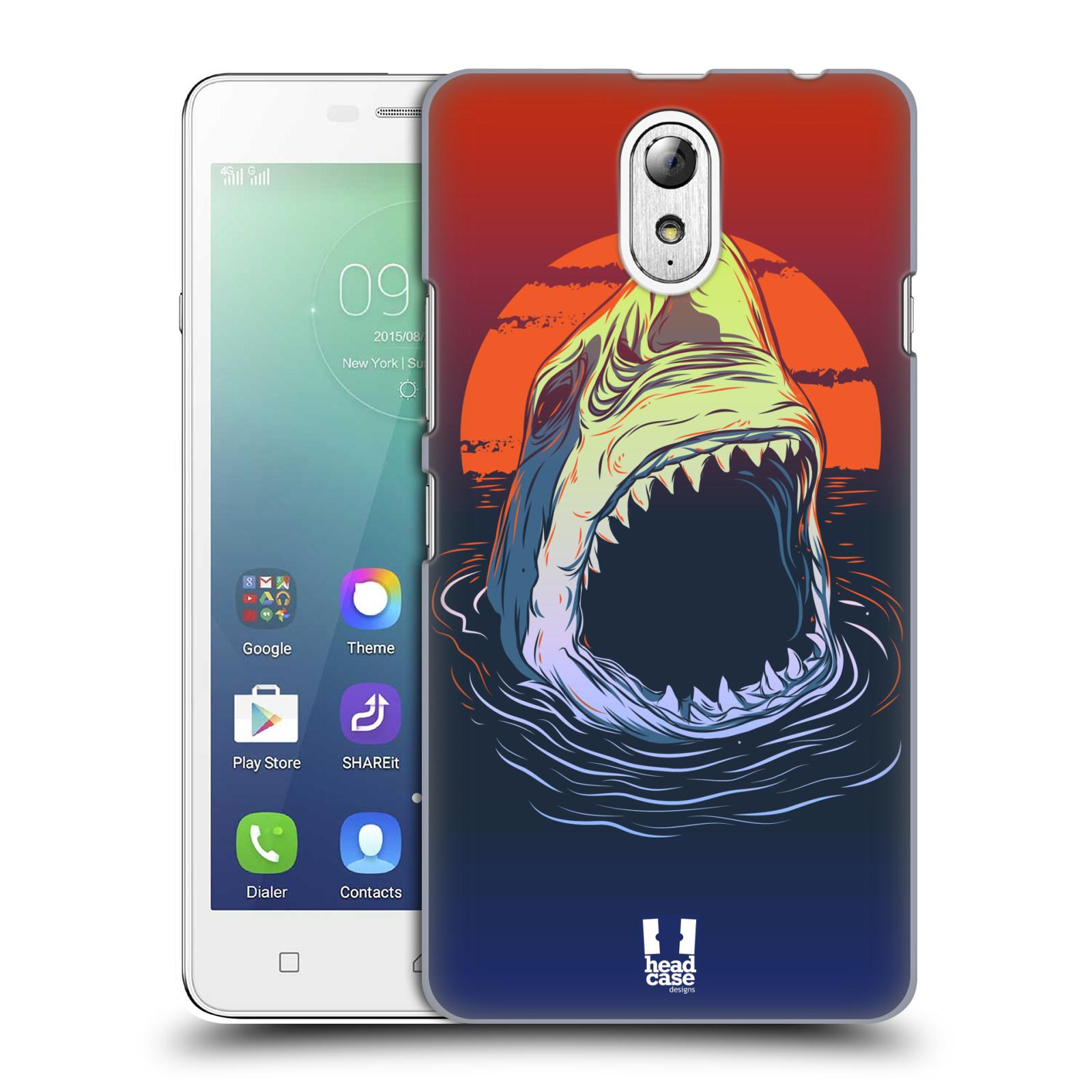 HEAD CASE pevný plastový obal na mobil LENOVO VIBE P1m / LENOVO VIBE p1m DUAL SIM vzor mořská monstra žralok
