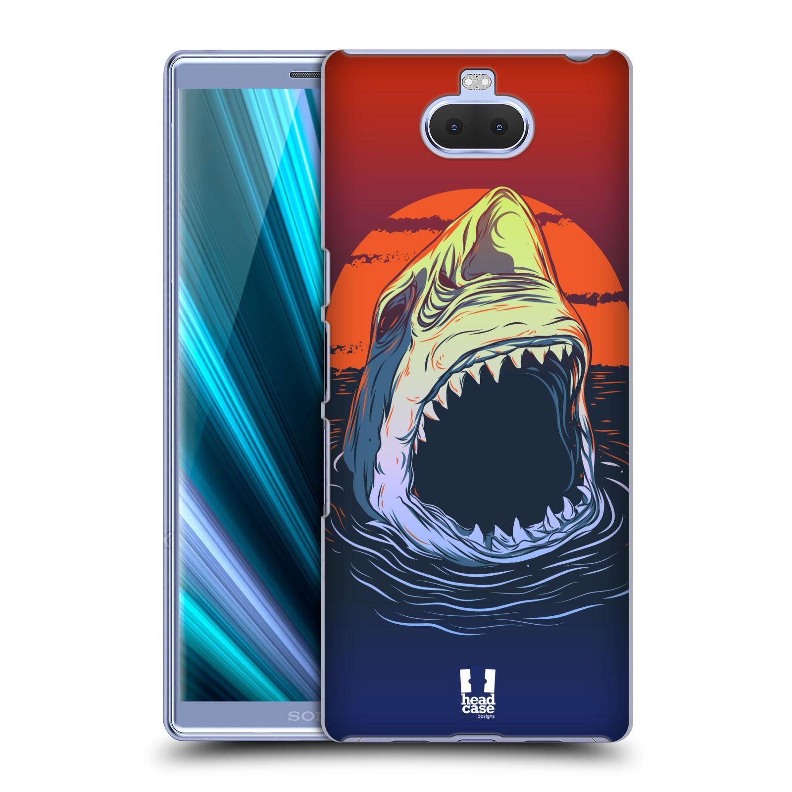 Pouzdro na mobil Sony Xperia 10 - Head Case - vzor mořská monstra žralok