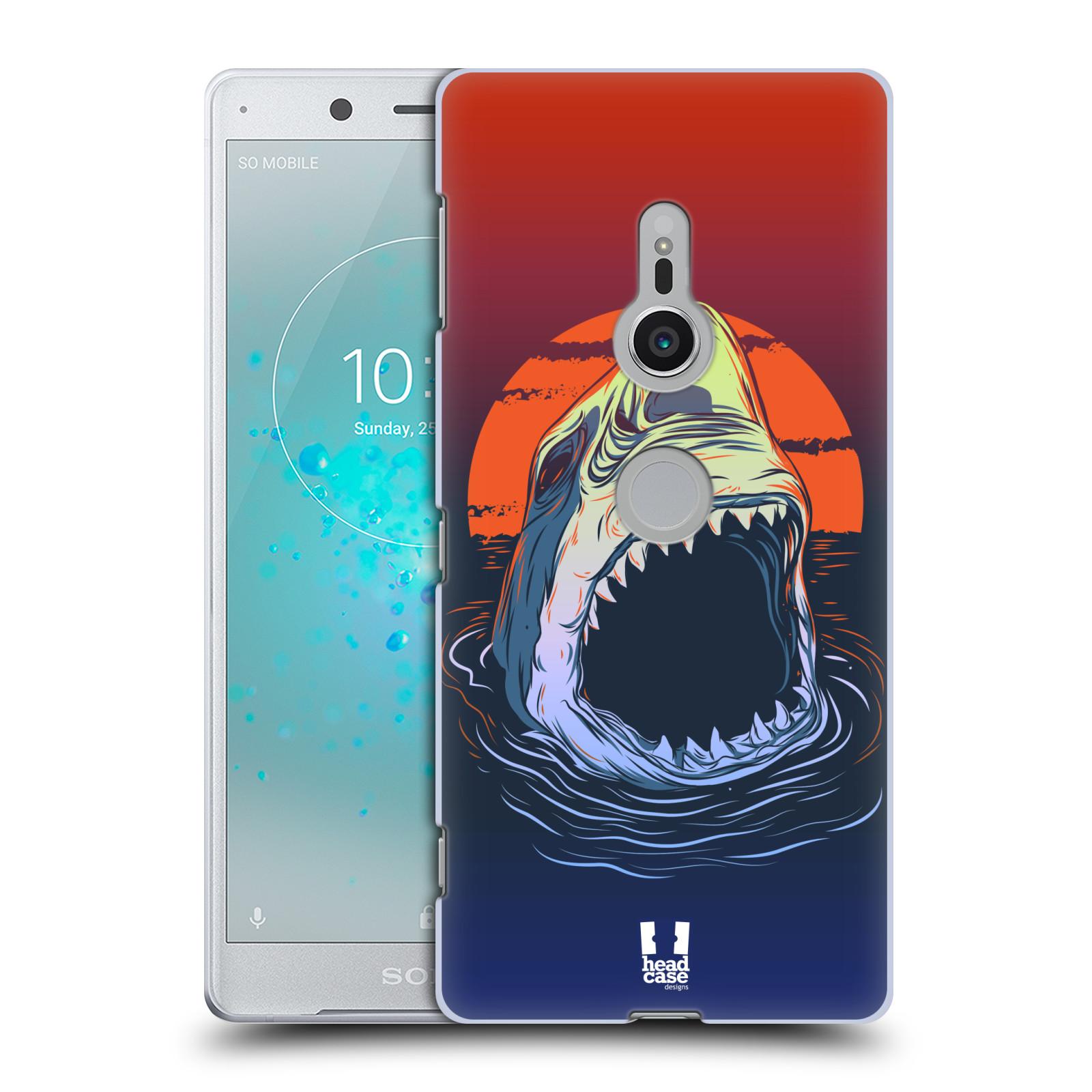 HEAD CASE plastový obal na mobil Sony Xperia XZ2 vzor mořská monstra žralok