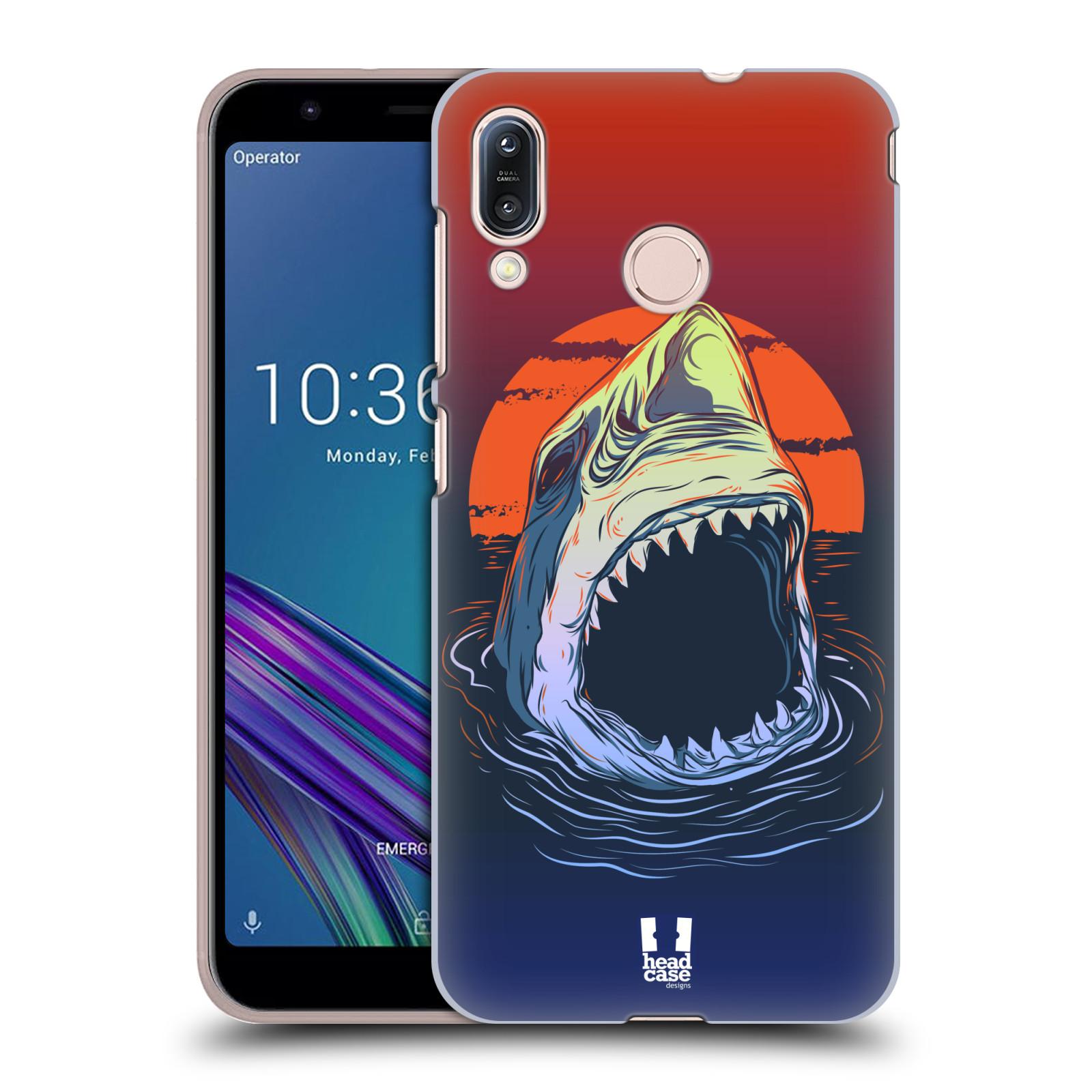 Pouzdro na mobil Asus Zenfone Max M1 (ZB555KL) - HEAD CASE - vzor mořská monstra žralok