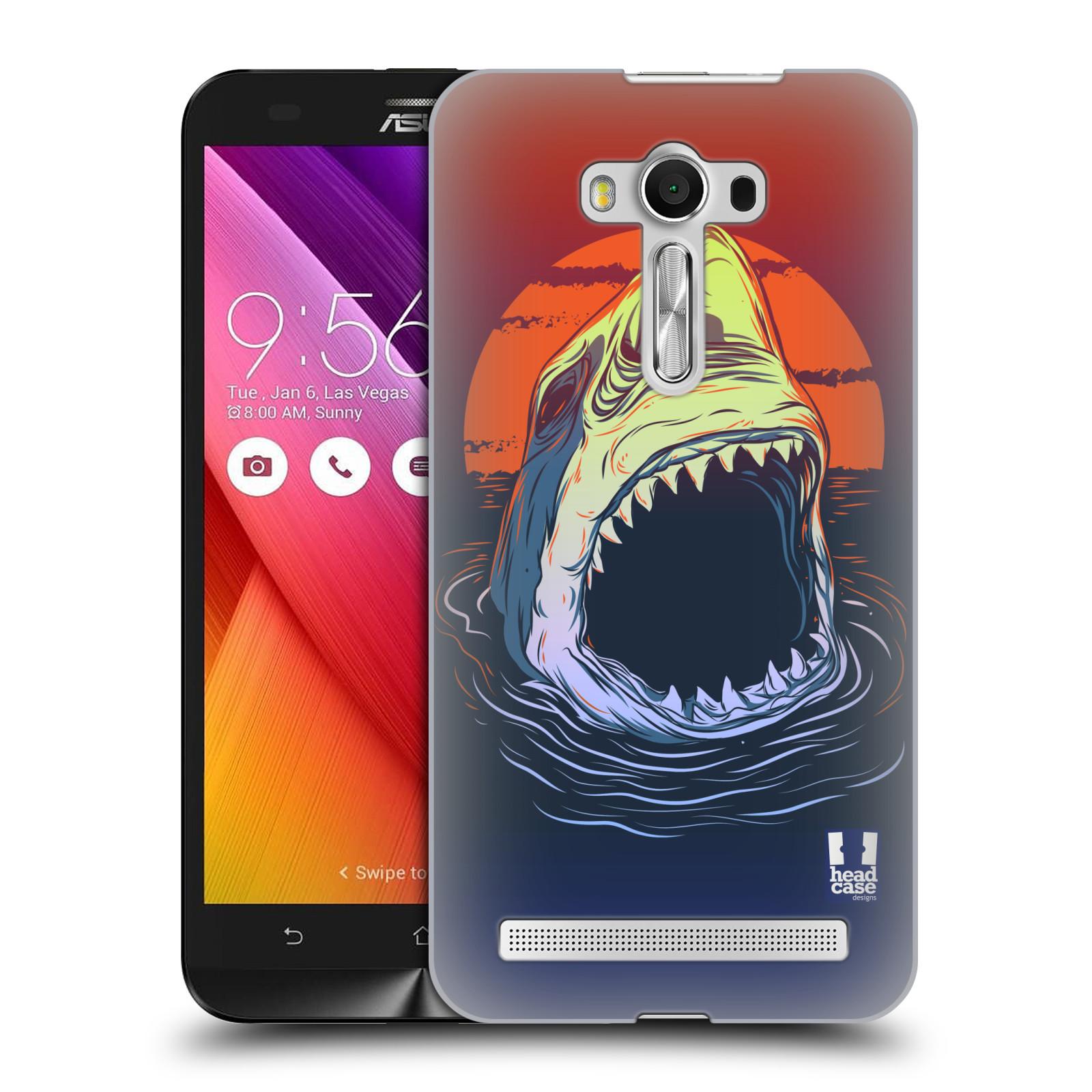 HEAD CASE plastový obal na mobil Asus Zenfone 2 LASER (5,5 displej ZE550KL) vzor mořská monstra žralok
