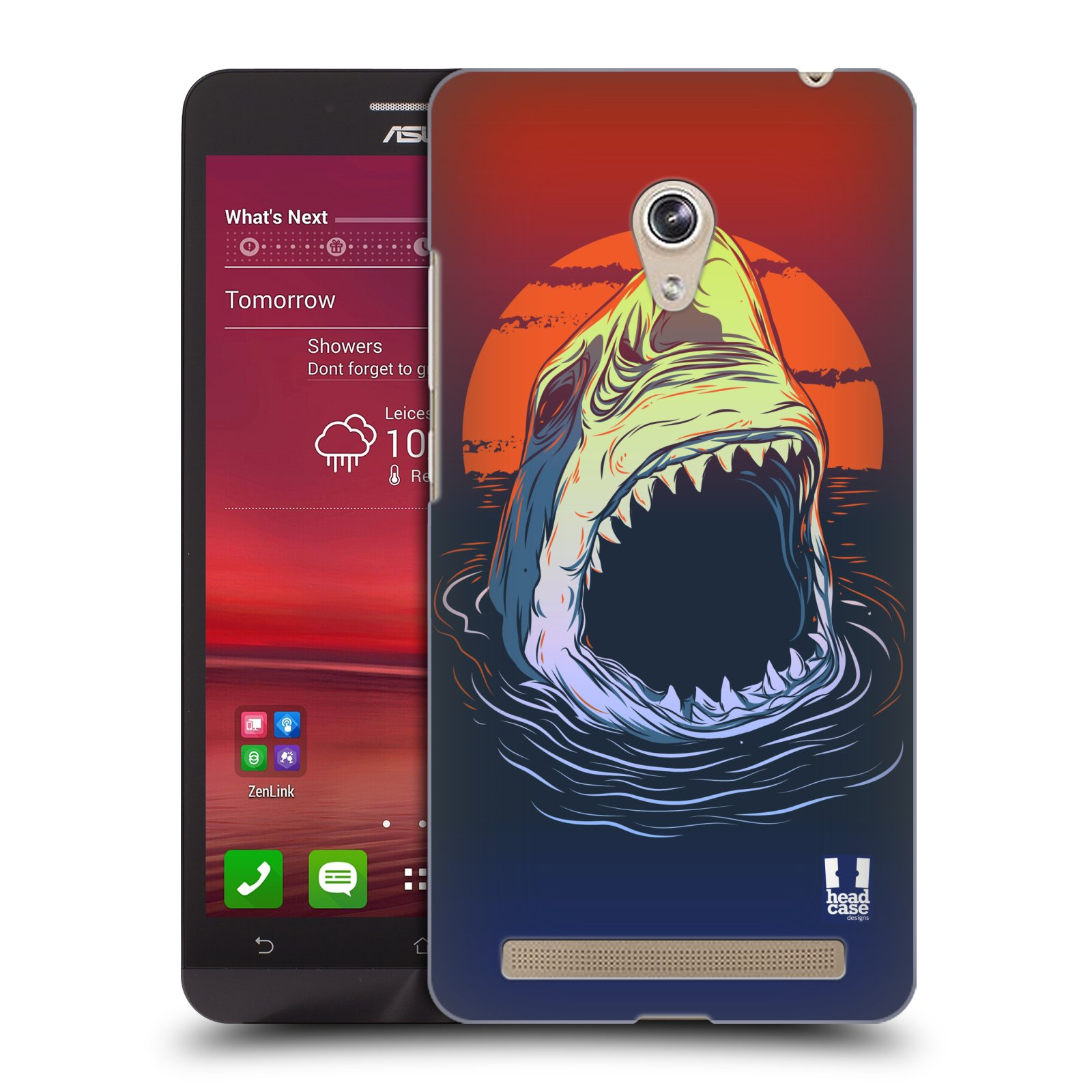 HEAD CASE plastový obal na mobil Asus Zenfone 6 vzor mořská monstra žralok