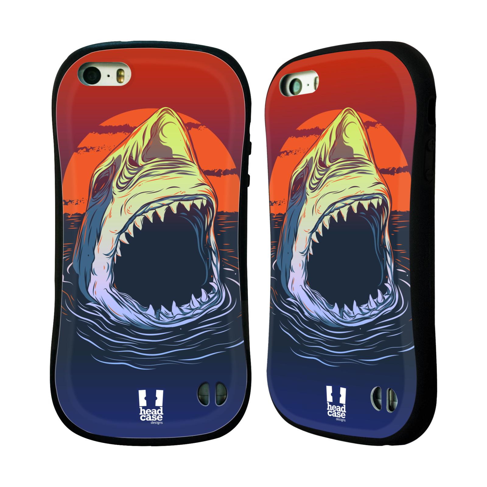 HEAD CASE silikon/plast odolný obal na mobil Apple Iphone 5/5S vzor mořská monstra žralok