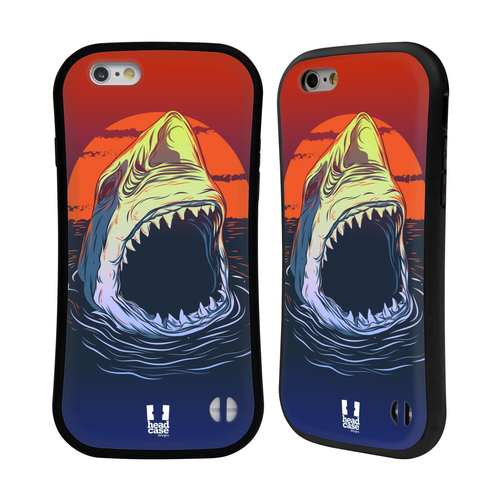 HEAD CASE silikon/plast odolný obal na mobil Apple Iphone 6/6S vzor mořská monstra žralok