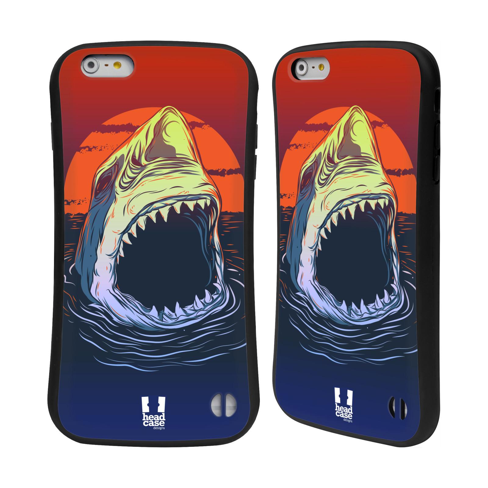 HEAD CASE silikon/plast odolný obal na mobil Apple Iphone 6 PLUS / 6S PLUS vzor mořská monstra žralok