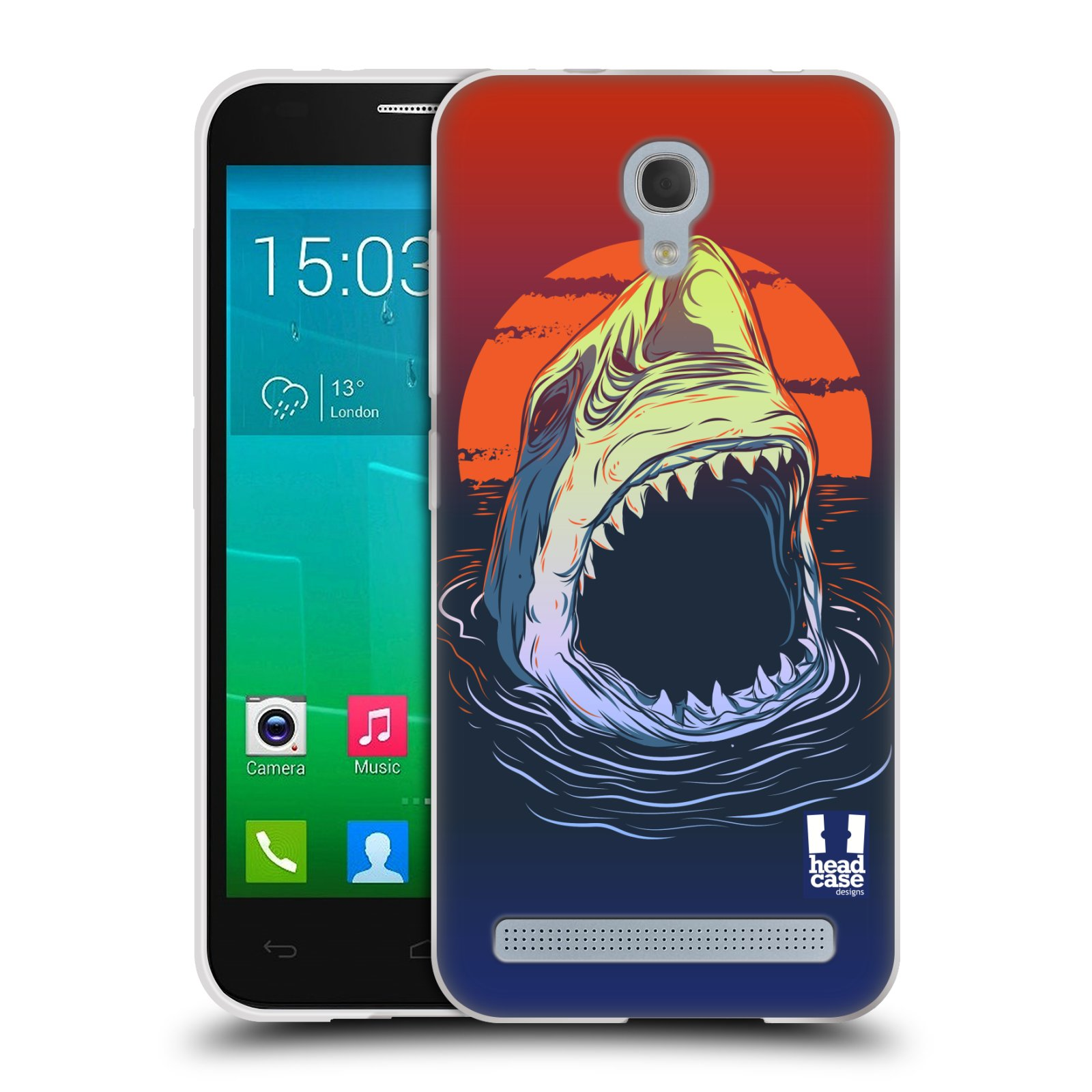 HEAD CASE silikonový obal na mobil Alcatel Idol 2 MINI S 6036Y vzor mořská monstra žralok