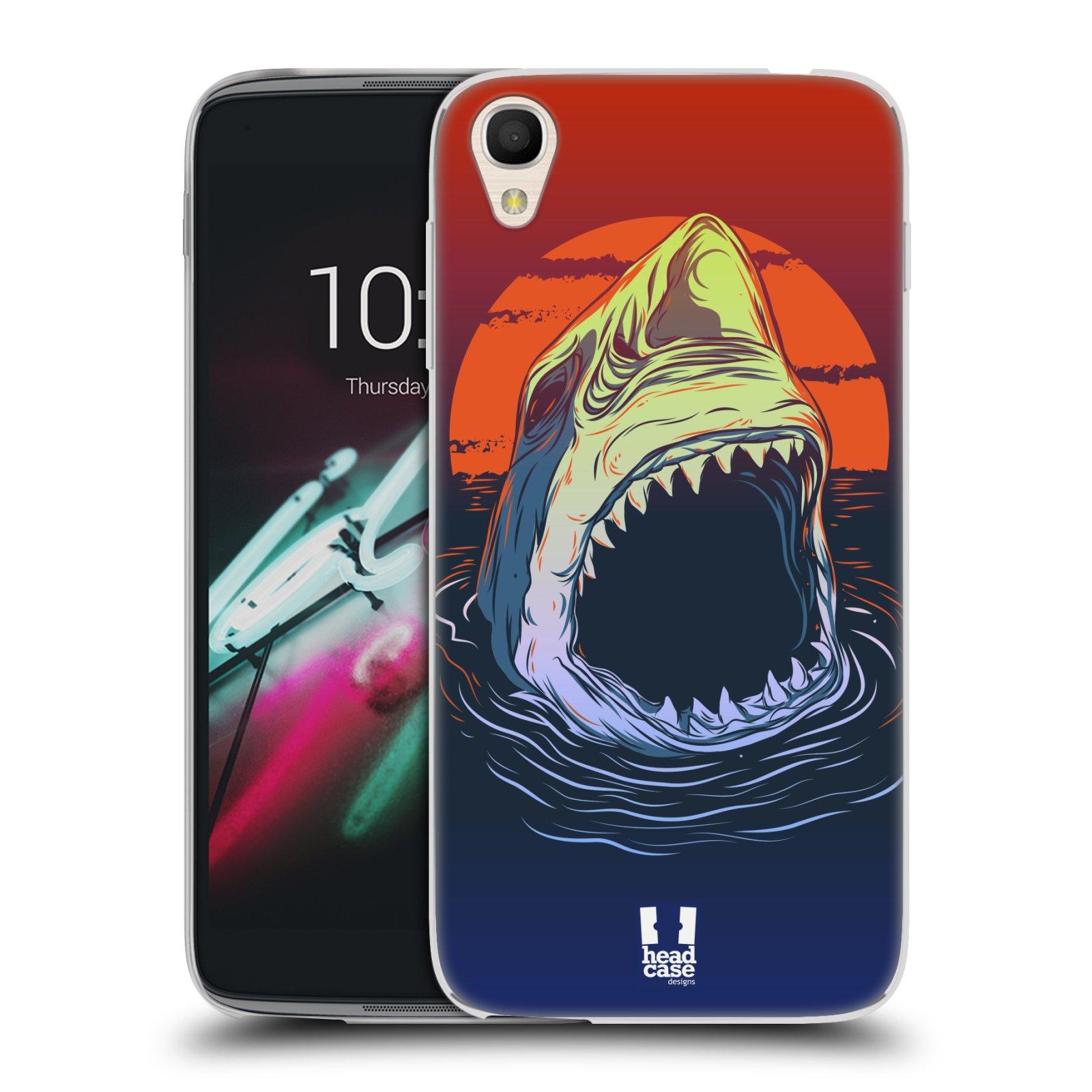 HEAD CASE silikonový obal na mobil Alcatel Idol 3 OT-6039Y (4.7) vzor mořská monstra žralok