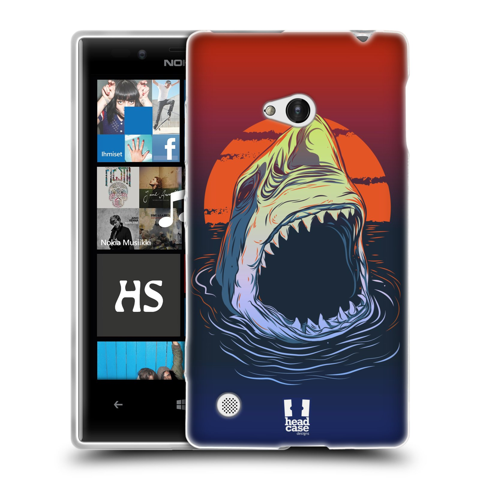 HEAD CASE silikonový obal na mobil NOKIA Lumia 720 vzor mořská monstra žralok