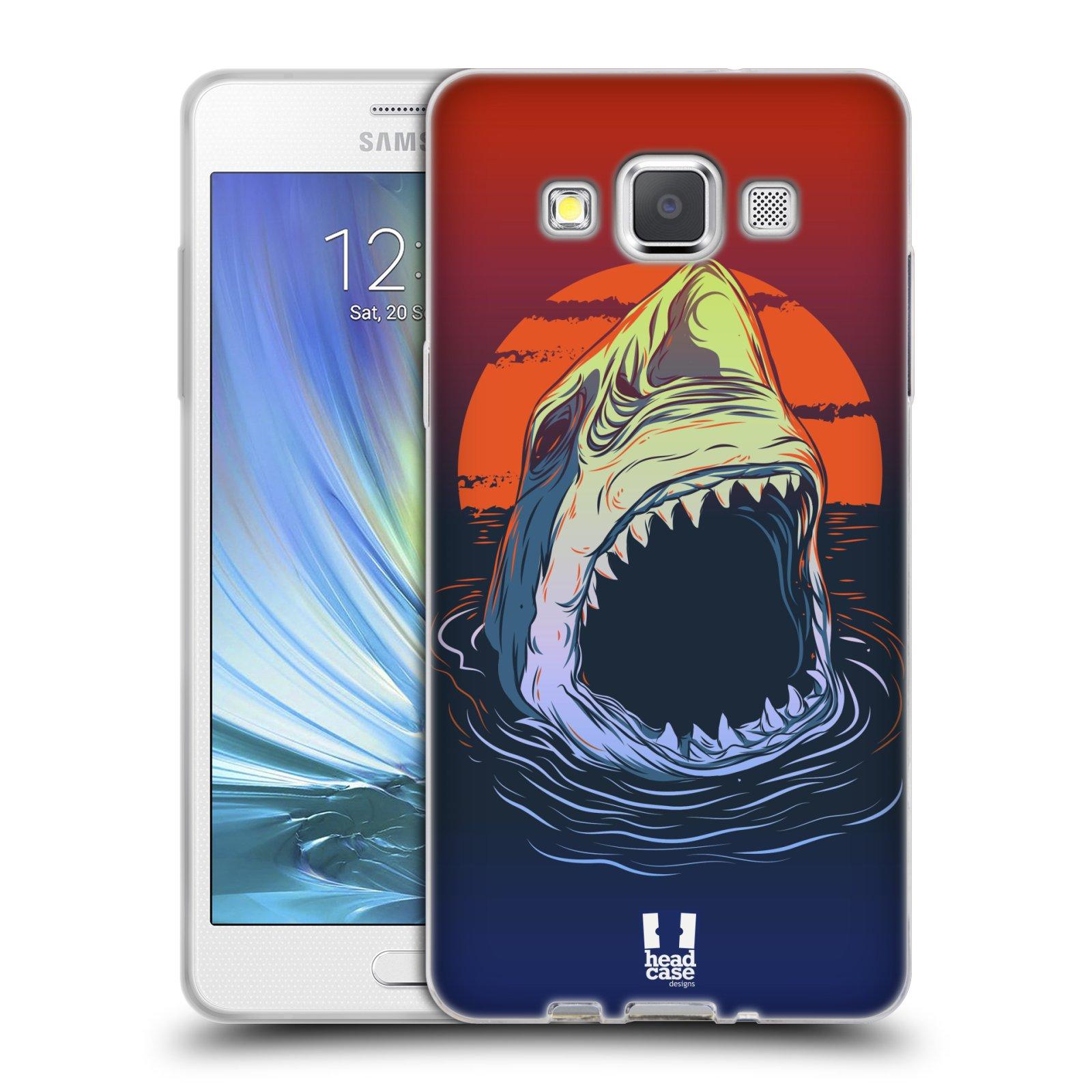 HEAD CASE silikonový obal na mobil Samsung Galaxy A5 vzor mořská monstra žralok