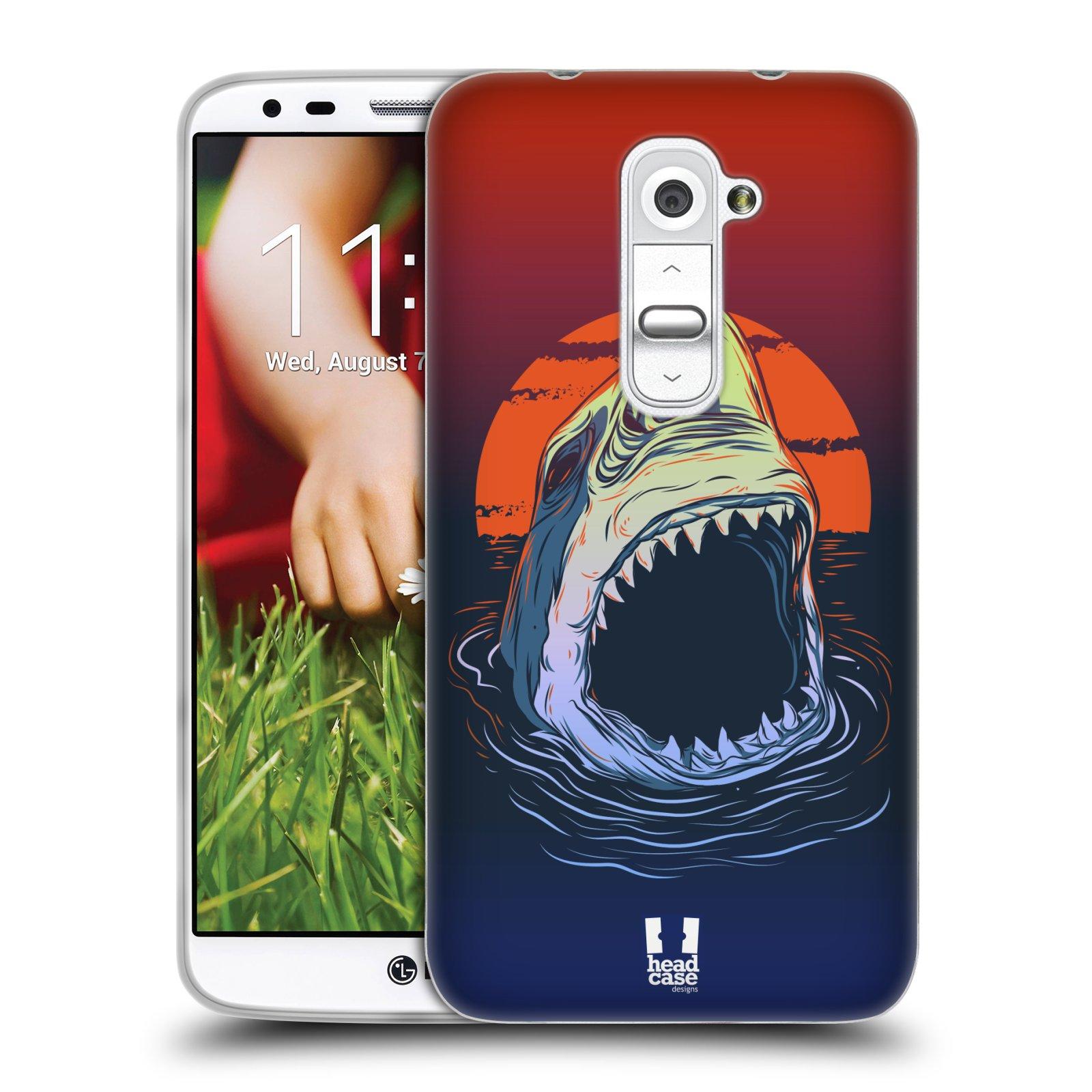 HEAD CASE silikonový obal na mobil LG G2 vzor mořská monstra žralok