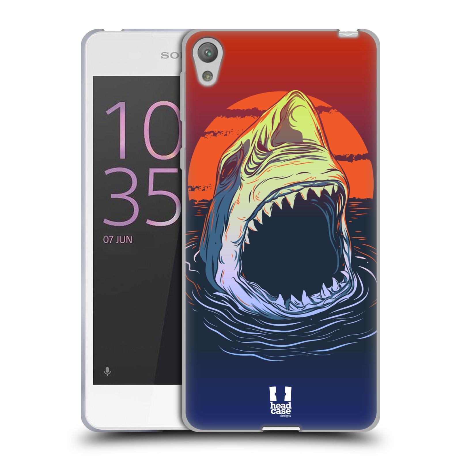 HEAD CASE silikonový obal na mobil SONY XPERIA E5 vzor mořská monstra žralok
