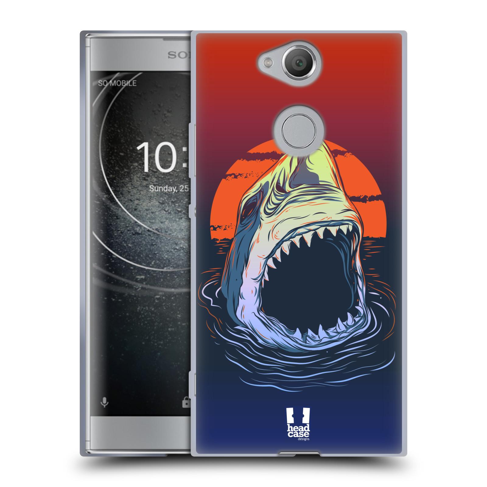 Pouzdro na mobil Sony Xperia XA2 (DUAL SIM, SINGLE SIM) vzor mořská monstra žralok