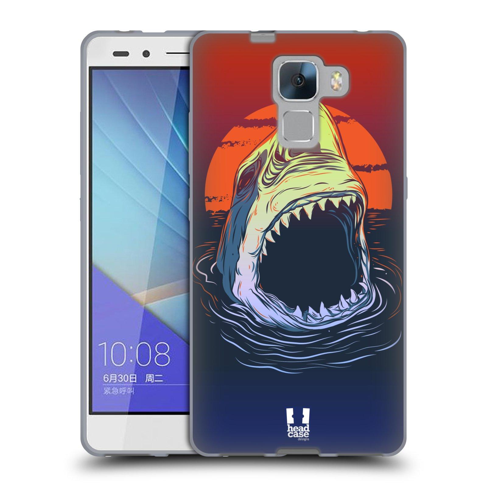 HEAD CASE silikonový obal na mobil HUAWEI HONOR 7 vzor mořská monstra žralok