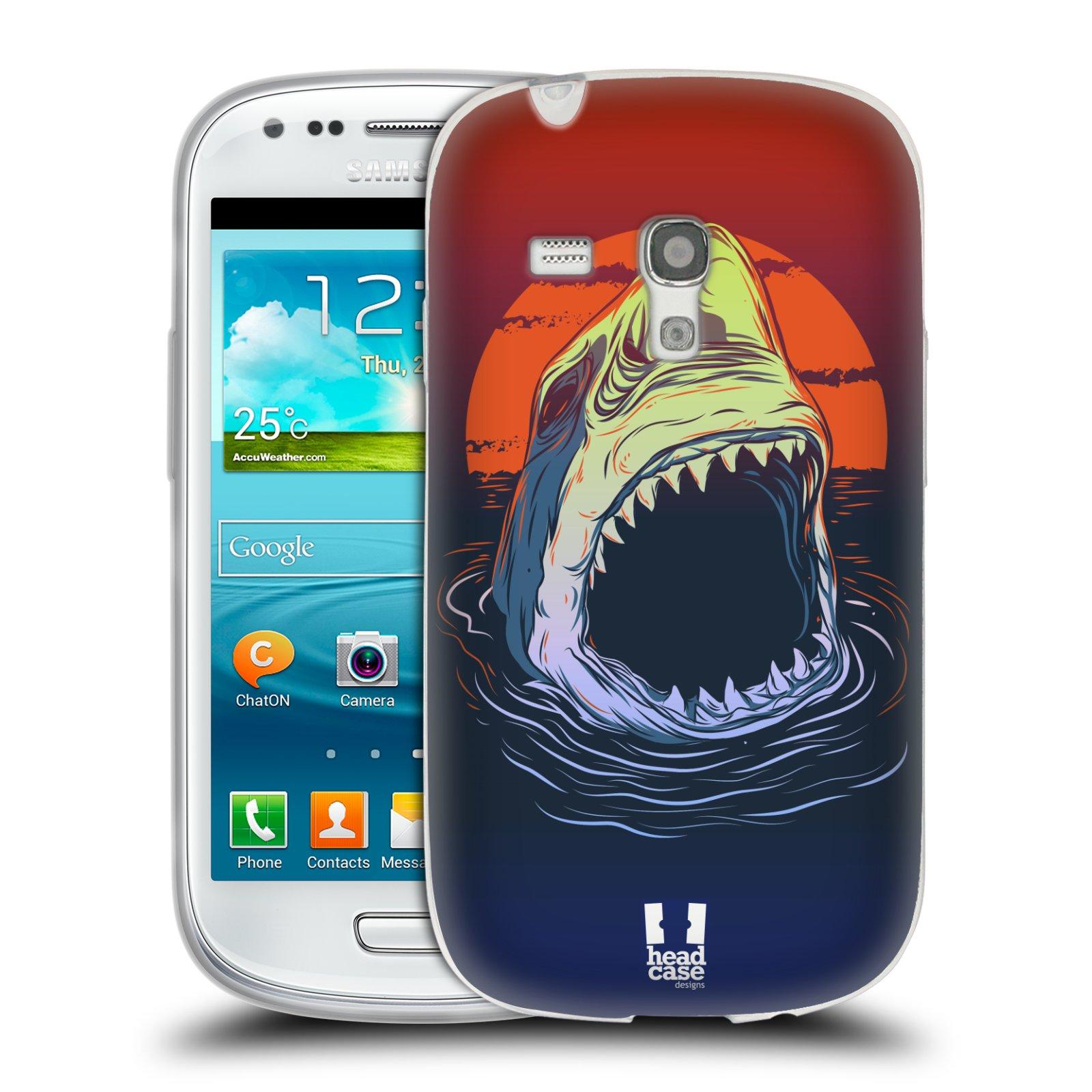 HEAD CASE silikonový obal na mobil Samsung Galaxy S3 MINI i8190 vzor mořská monstra žralok
