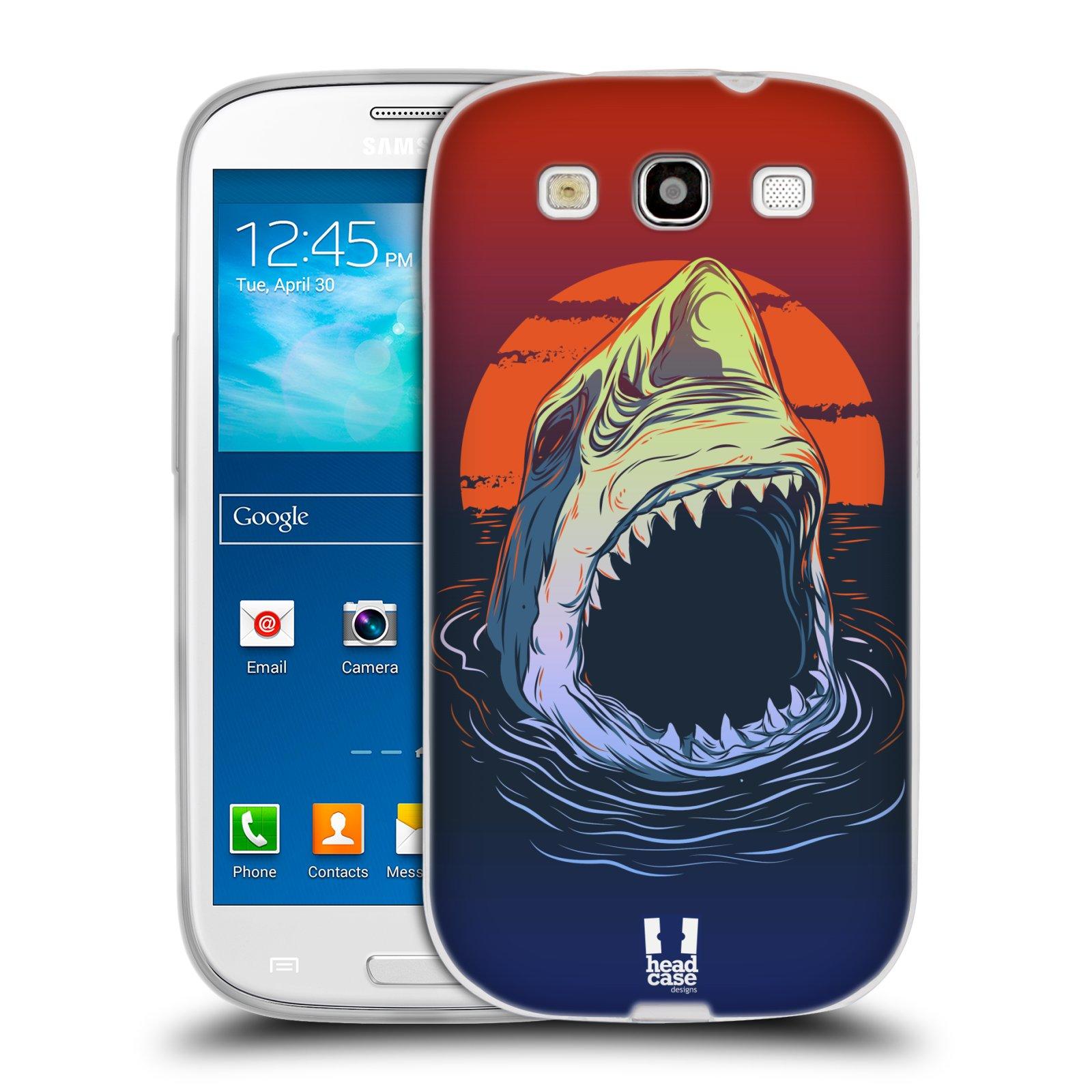 HEAD CASE silikonový obal na mobil Samsung Galaxy S3 i9300 vzor mořská monstra žralok