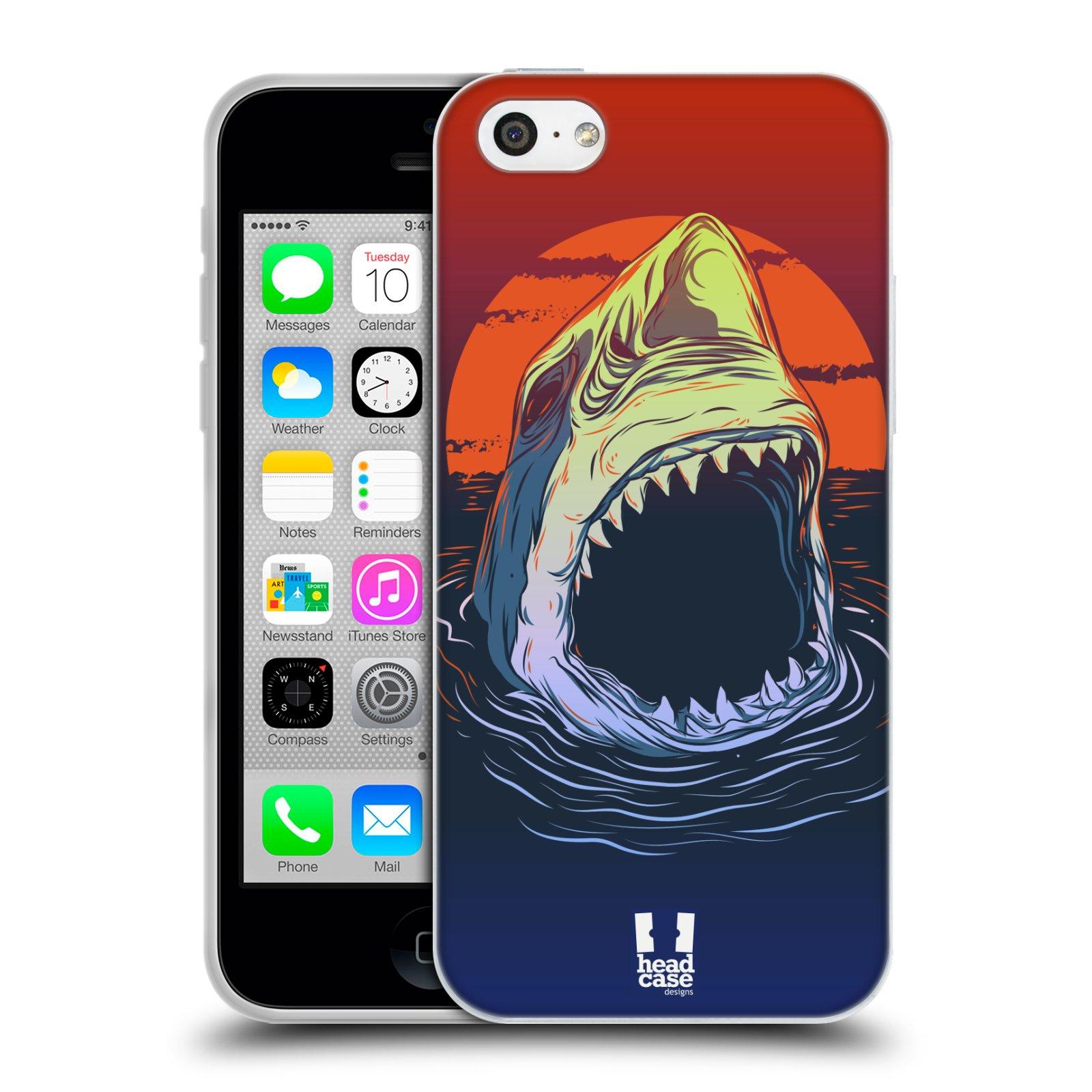 HEAD CASE silikonový obal na mobil Apple Iphone 5C vzor mořská monstra žralok