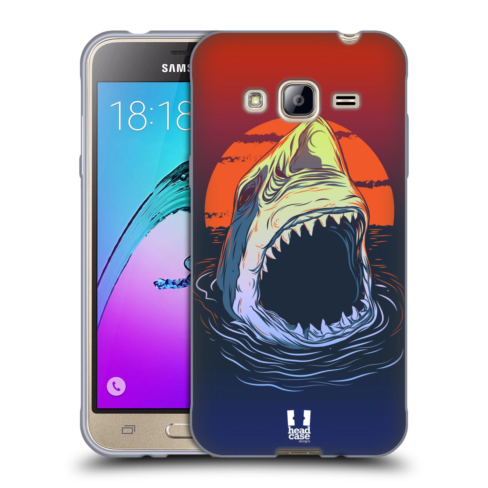 HEAD CASE silikonový obal na mobil Samsung Galaxy J3, J3 2016 vzor mořská monstra žralok