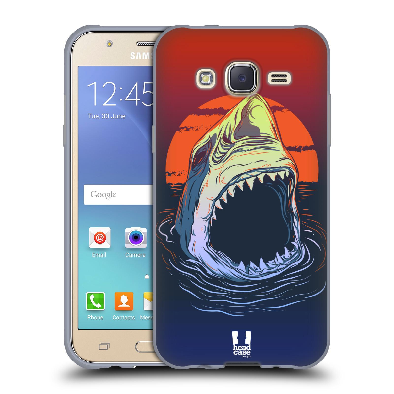 HEAD CASE silikonový obal na mobil Samsung Galaxy J5, J500, (J5 DUOS) vzor mořská monstra žralok
