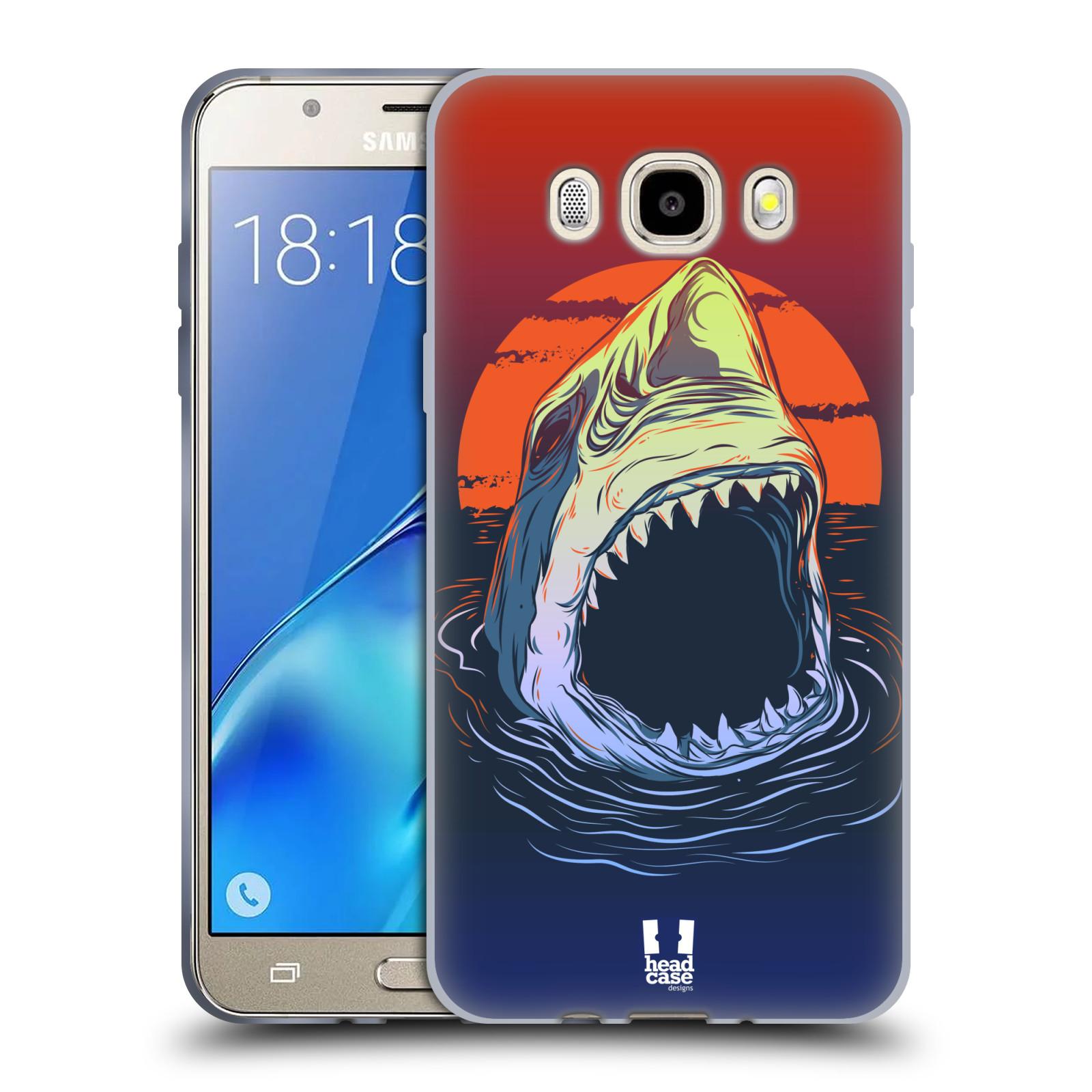 HEAD CASE silikonový obal, kryt na mobil Samsung Galaxy J5 2016, J510, J510F, (J510F DUAL SIM) vzor mořská monstra žralok