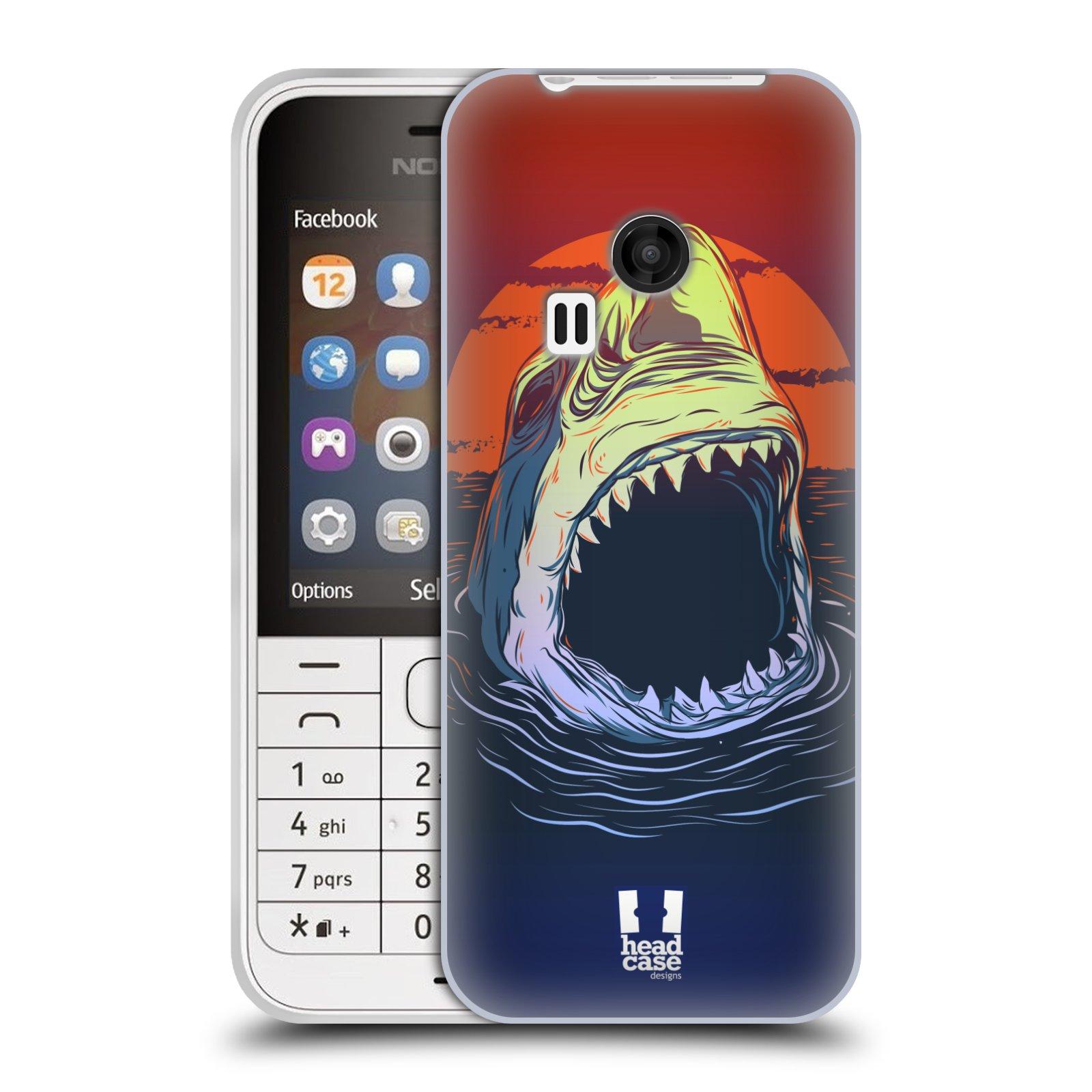 HEAD CASE silikonový obal na mobil NOKIA 220 / NOKIA 220 DUAL SIM vzor mořská monstra žralok