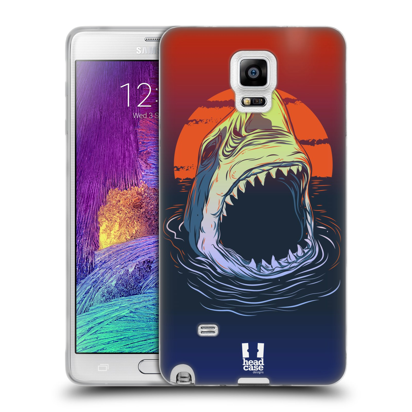 HEAD CASE silikonový obal na mobil Samsung Galaxy Note 4 (N910) vzor mořská monstra žralok