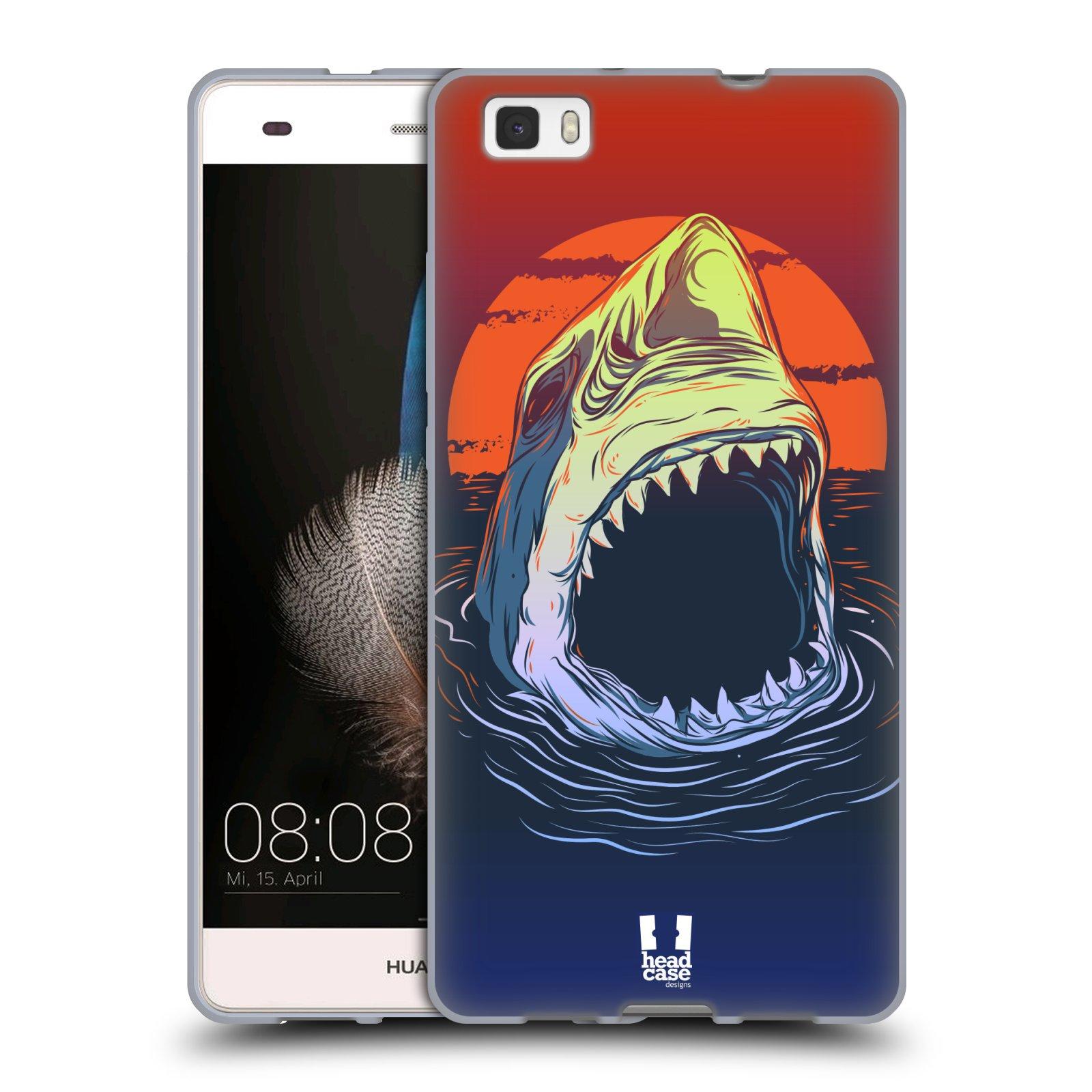 HEAD CASE silikonový obal na mobil HUAWEI P8 LITE vzor mořská monstra žralok