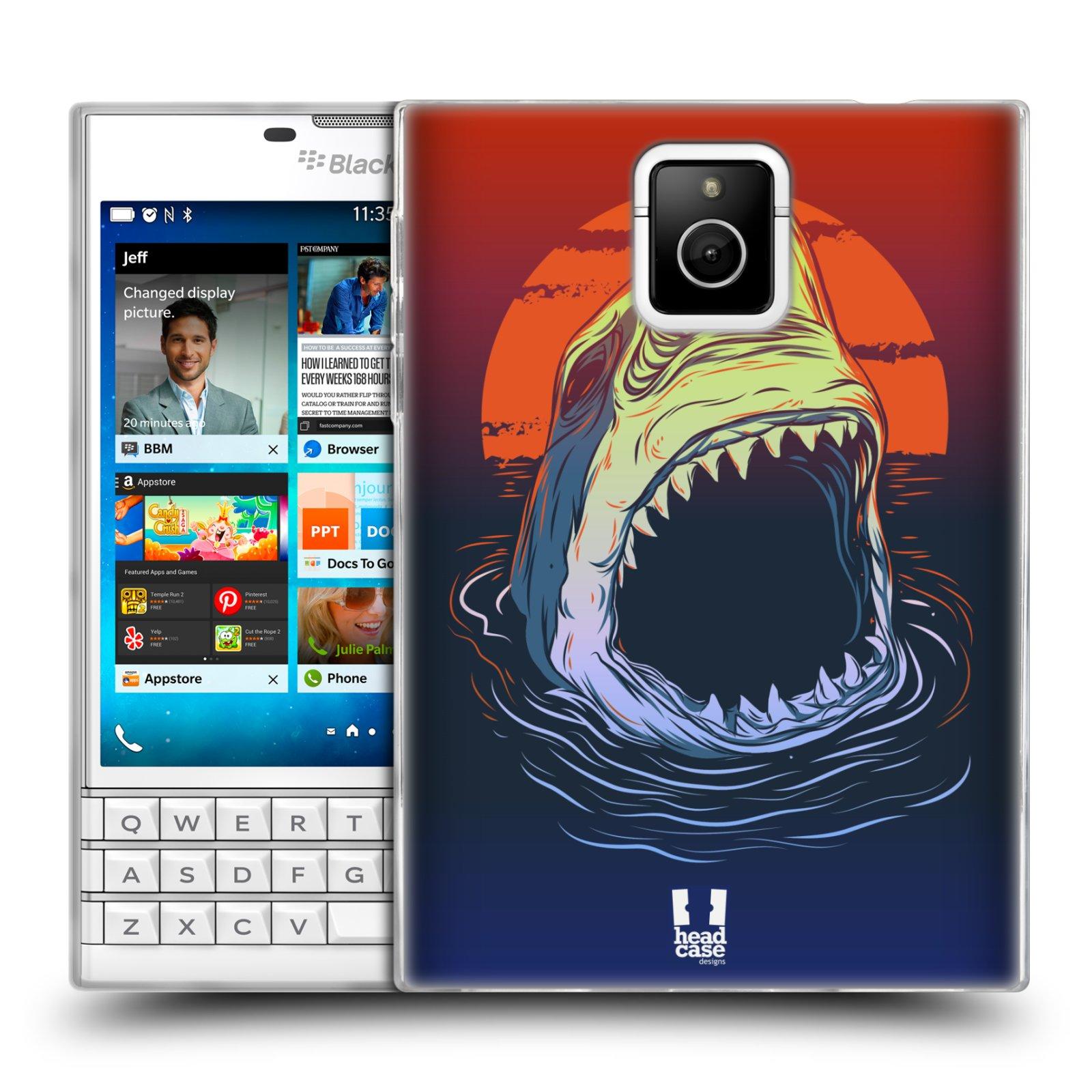 HEAD CASE silikonový obal na mobil Blackberry PASSPORT vzor mořská monstra žralok