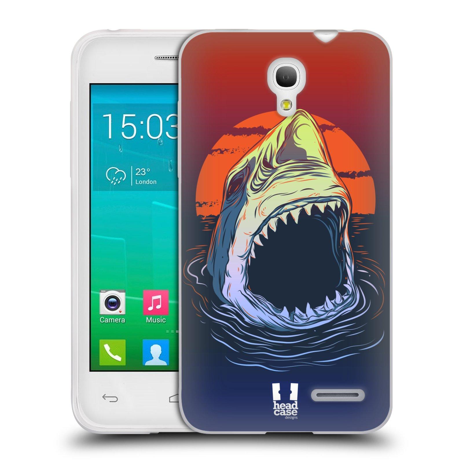 HEAD CASE silikonový obal na mobil Alcatel POP S3 OT-5050Y vzor mořská monstra žralok