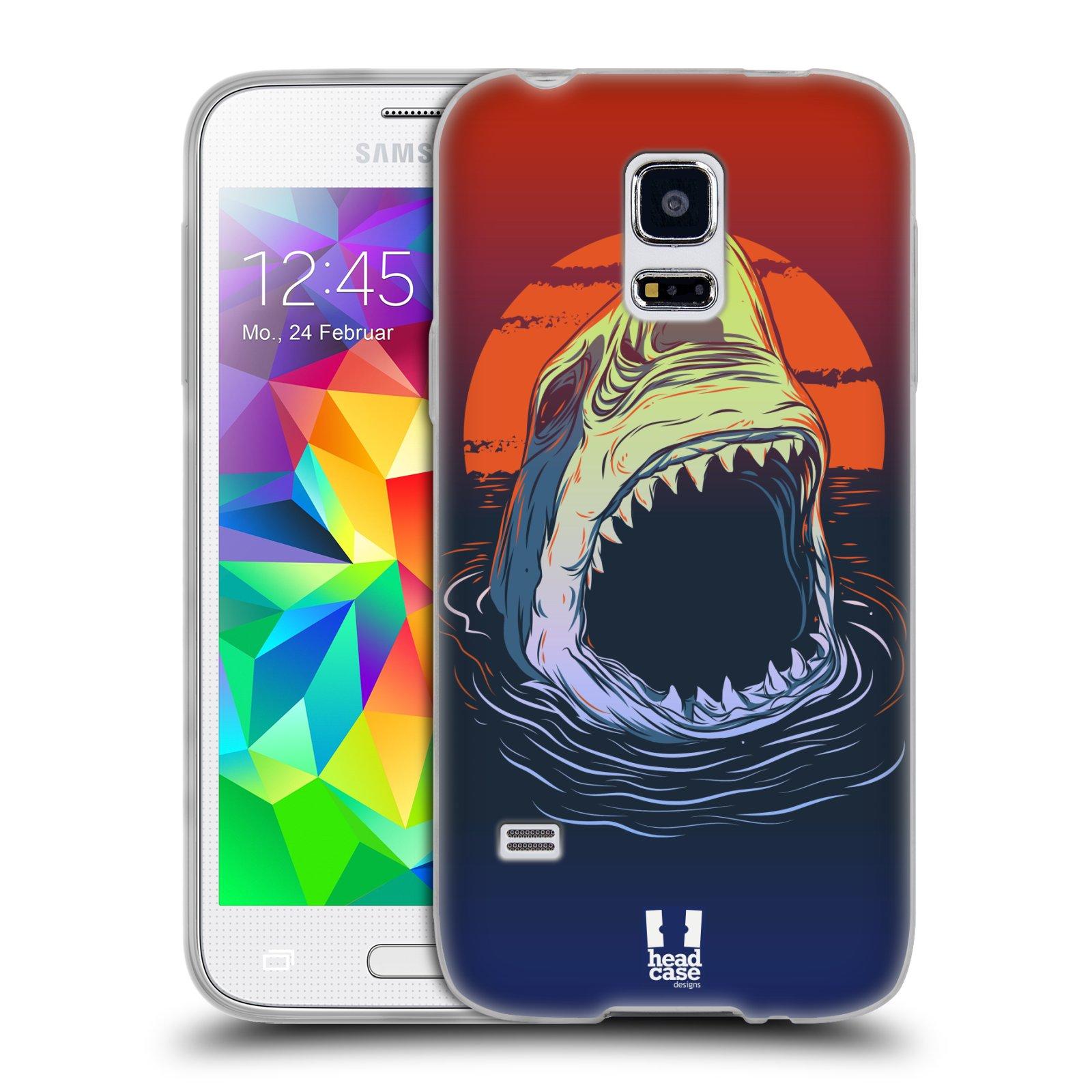 HEAD CASE silikonový obal na mobil Samsung Galaxy S5 MINI vzor mořská monstra žralok