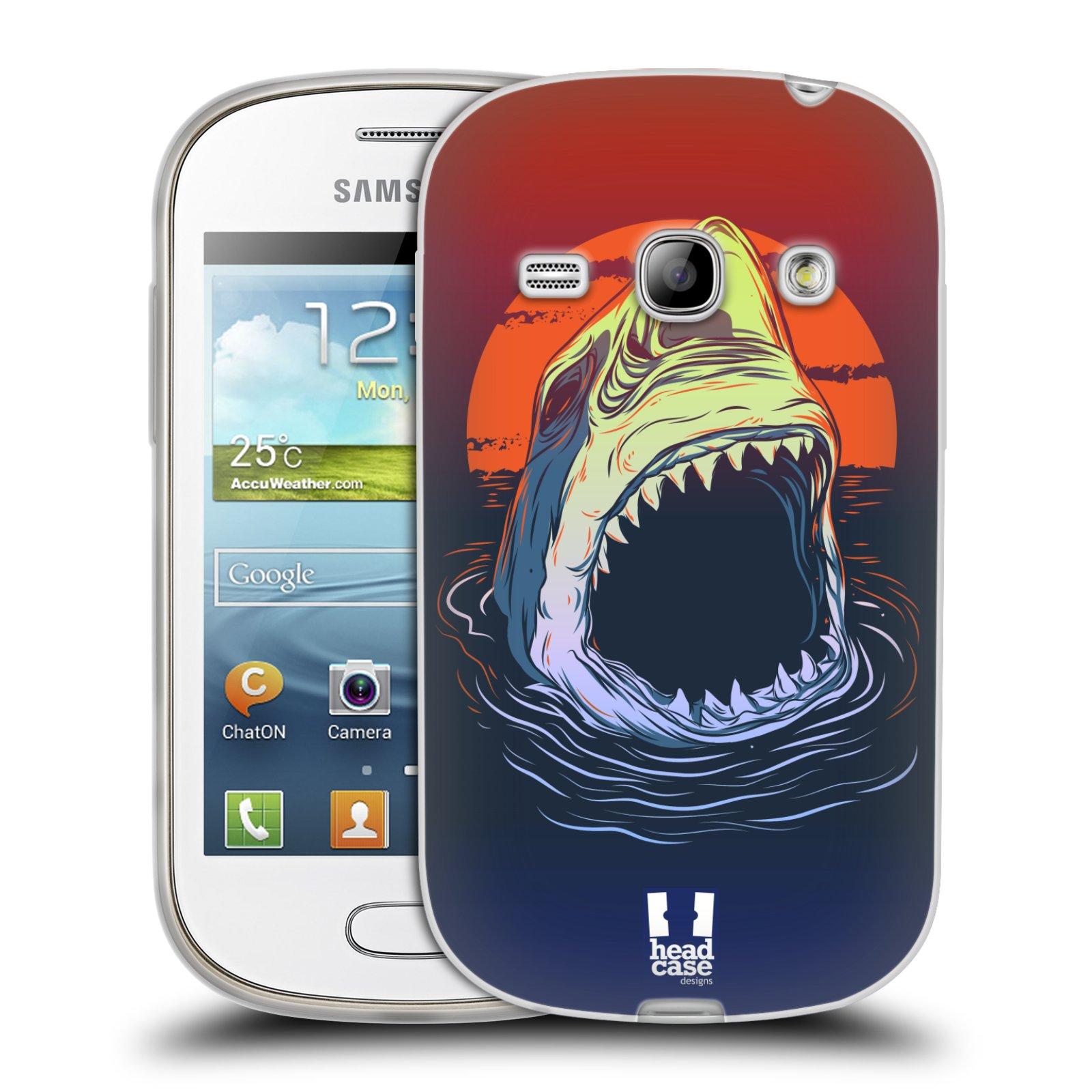 HEAD CASE silikonový obal na mobil Samsung Galaxy FAME vzor mořská monstra žralok
