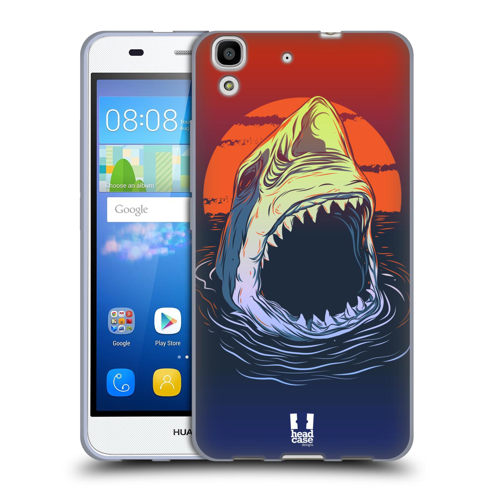 HEAD CASE silikonový obal na mobil HUAWEI Y6 vzor mořská monstra žralok