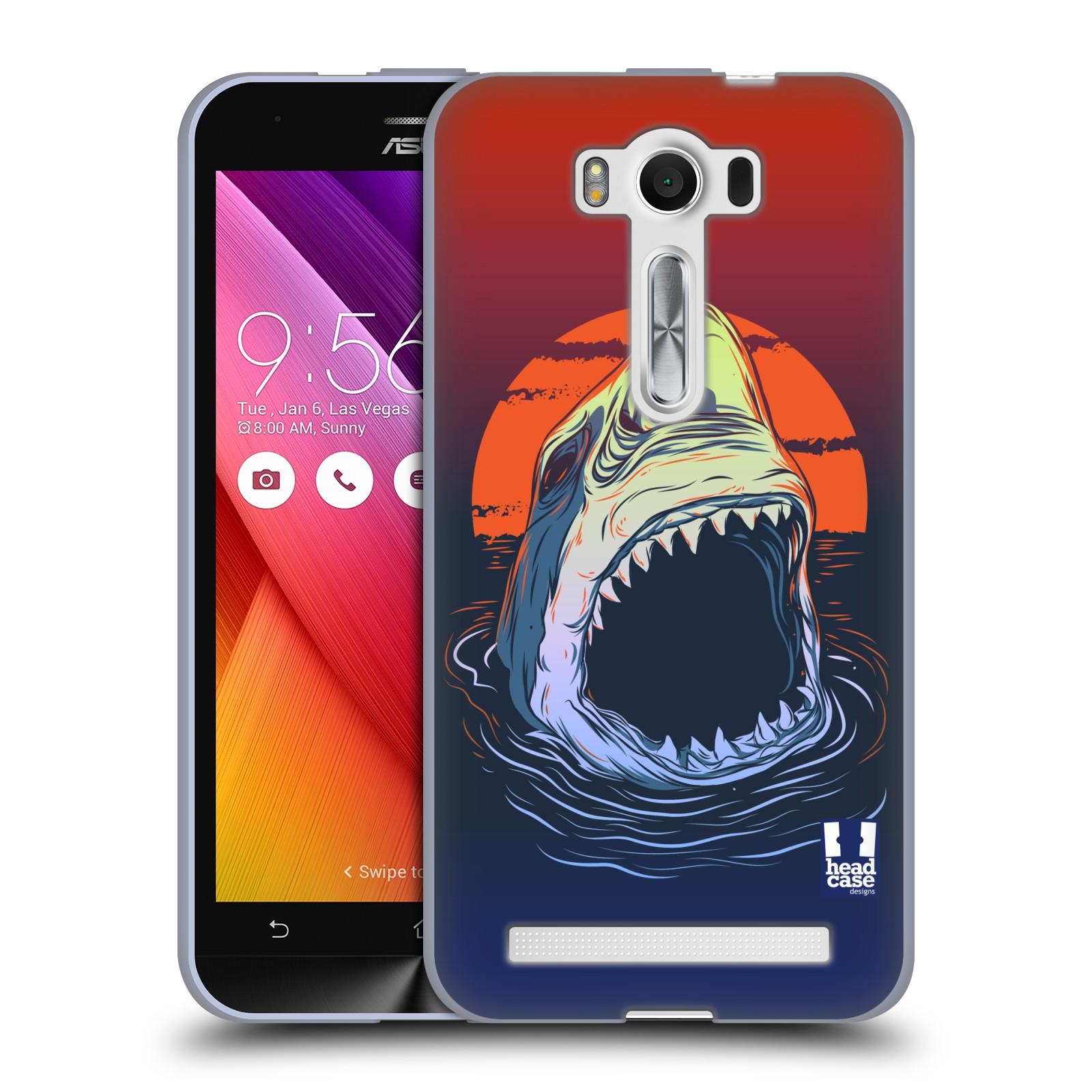 """HEAD CASE silikonový obal na mobil Asus Zenfone 2 LASER (ZE500KL s 5"""" displejem) vzor mořská monstra žralok"""